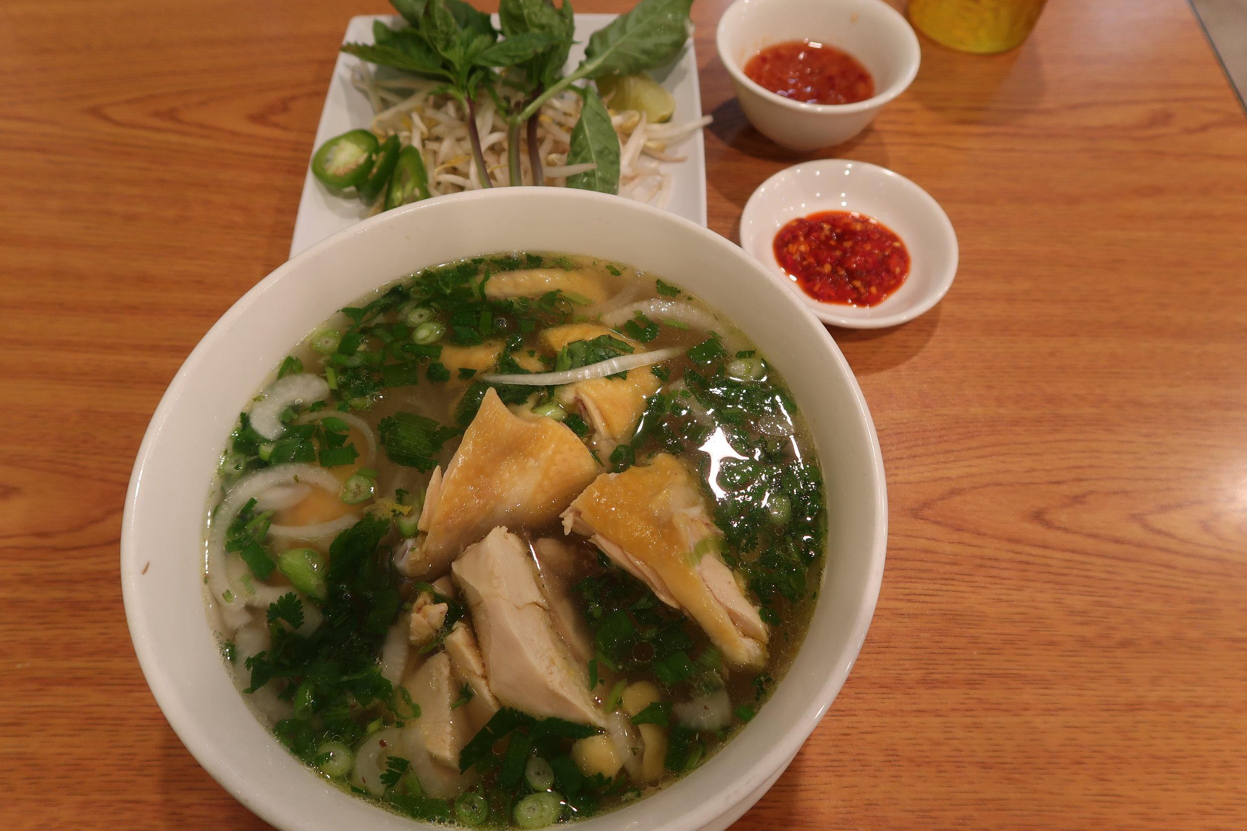 Chicken Pho (Pho Ga) @ USD 10.50 at Kien Giang Quan