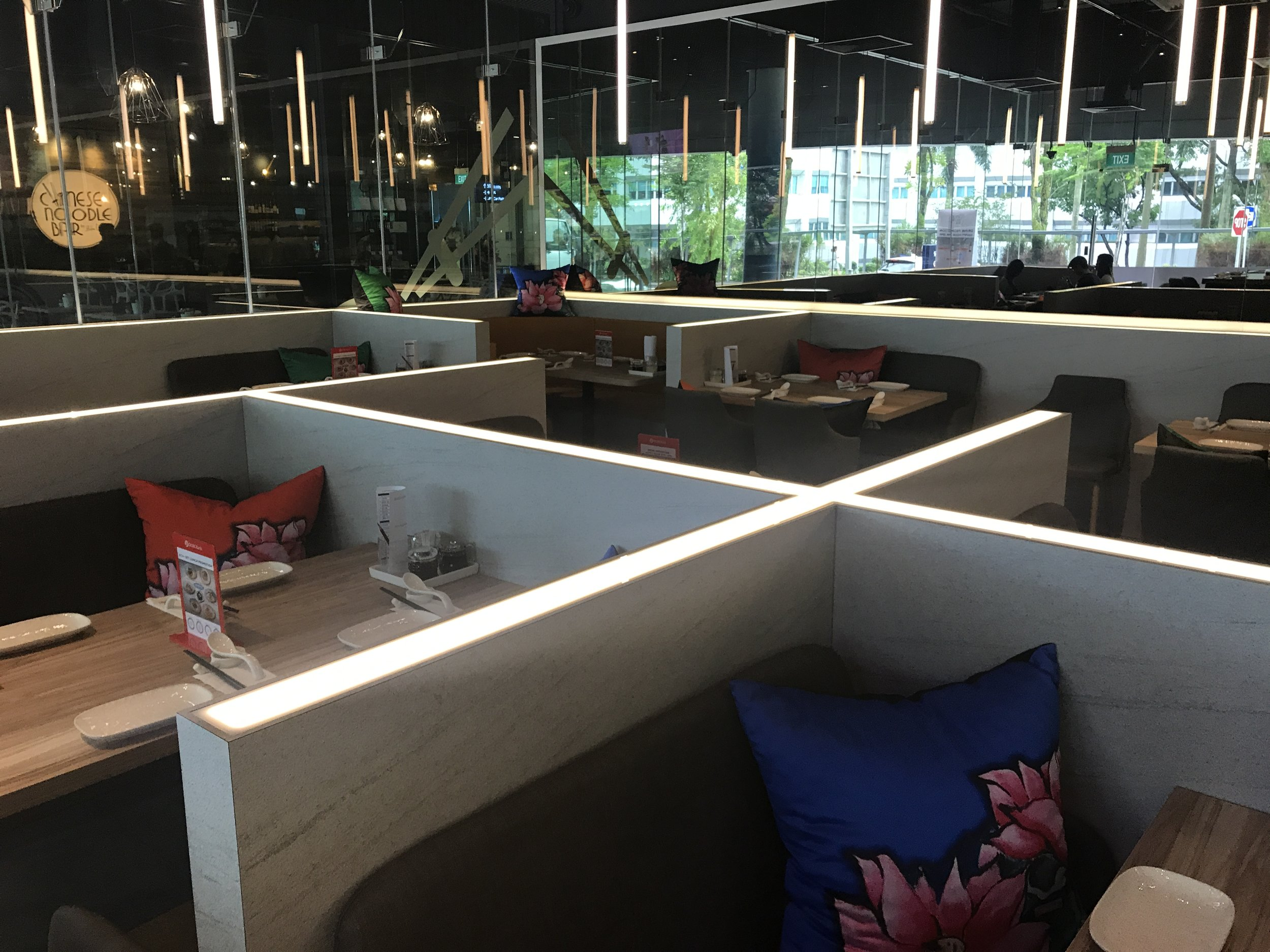The interior at Chinese Noodle Bar by Blue Lotus, Singapore