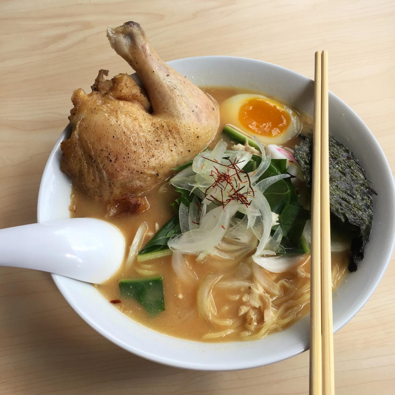 Bantam King's Miso Ramen with Quarter Chicken