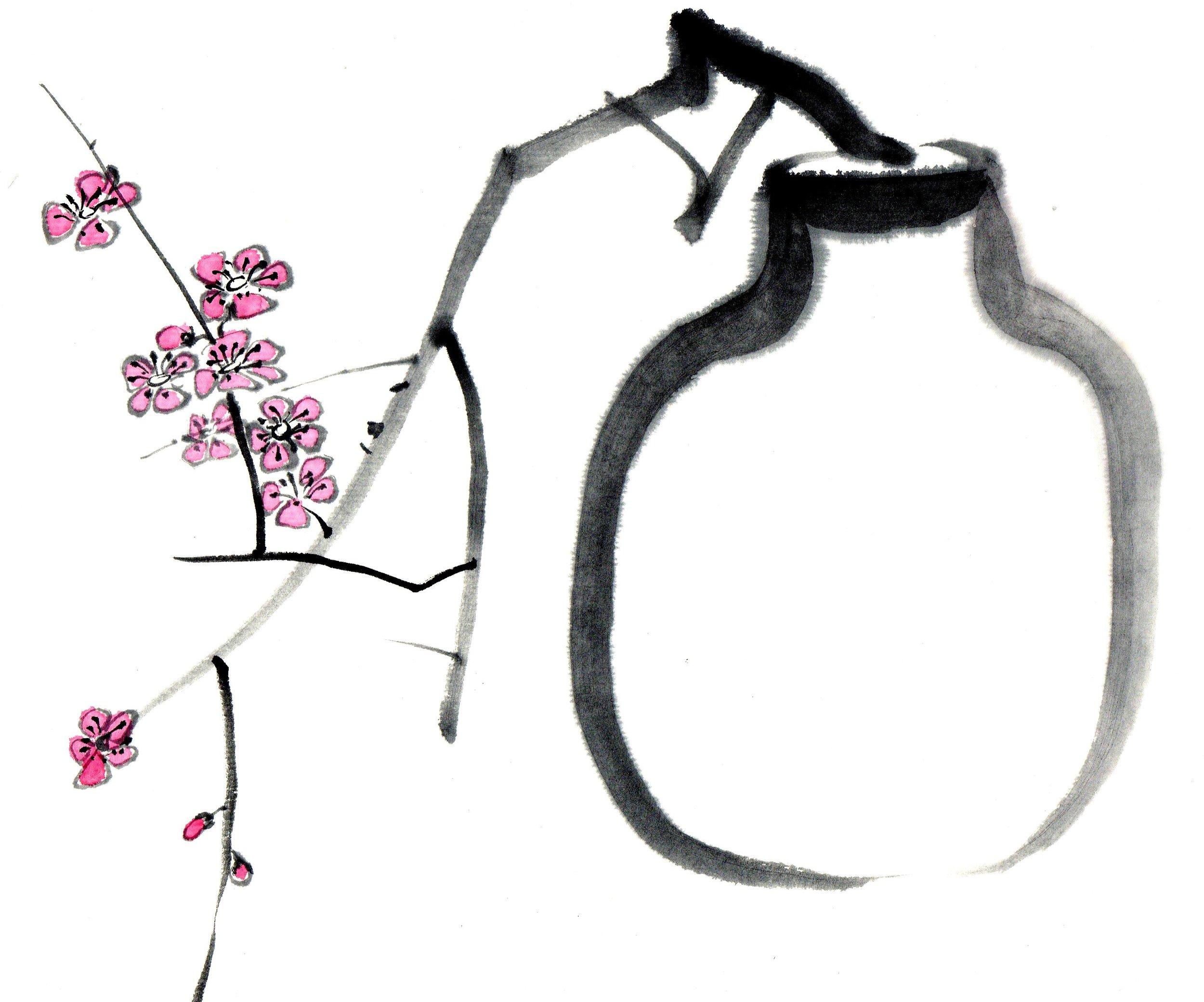 Vase & Blossom