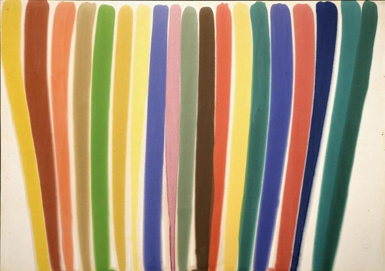 Morris Louis,  Where  1960, Magna on canvas, 362 x 252 cm