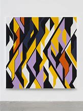 Sarah Morris,  Um Al Nar(Abu Dhabi)  2018, Household gloss paint on canvas, 214 x 214 cm
