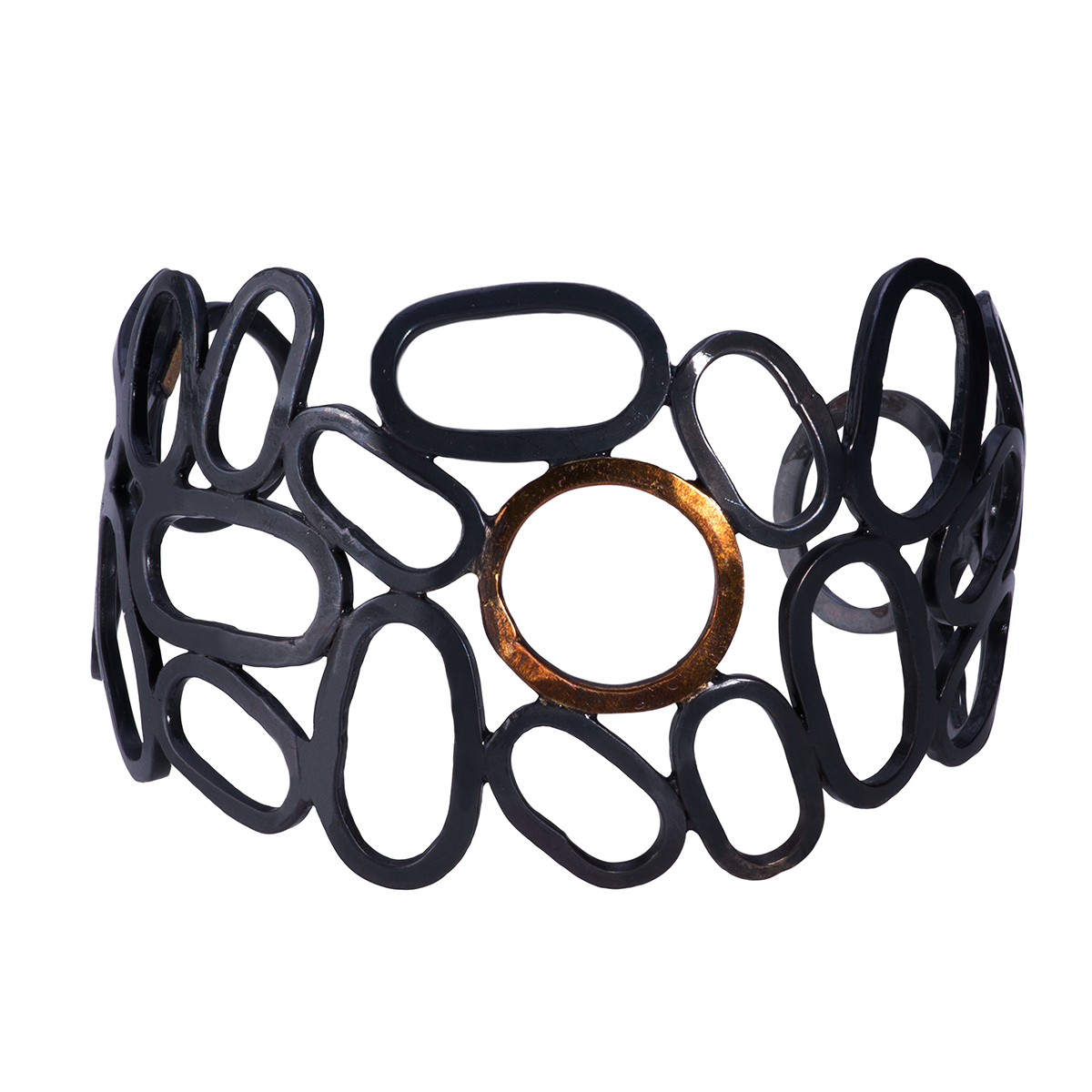Gold and Black Silver Cuff - 5.png