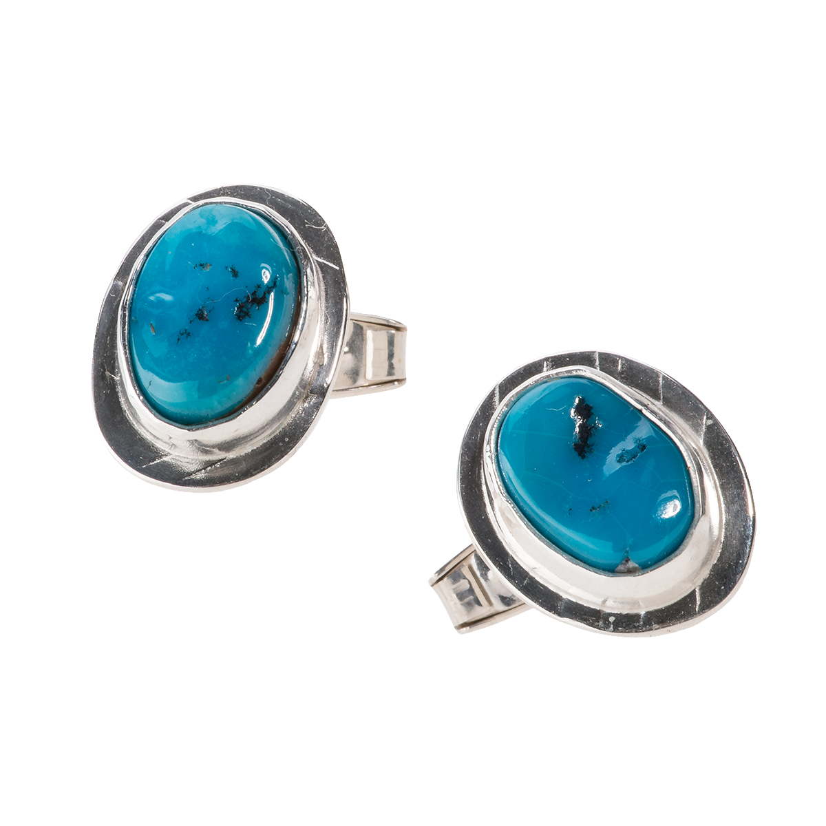 Kingman Turquoise and Silver Cufflinks - 9.png