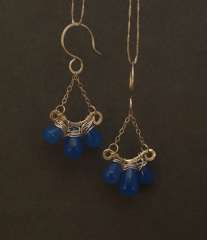 Colbalt Blue Swing Chandelier Earrings