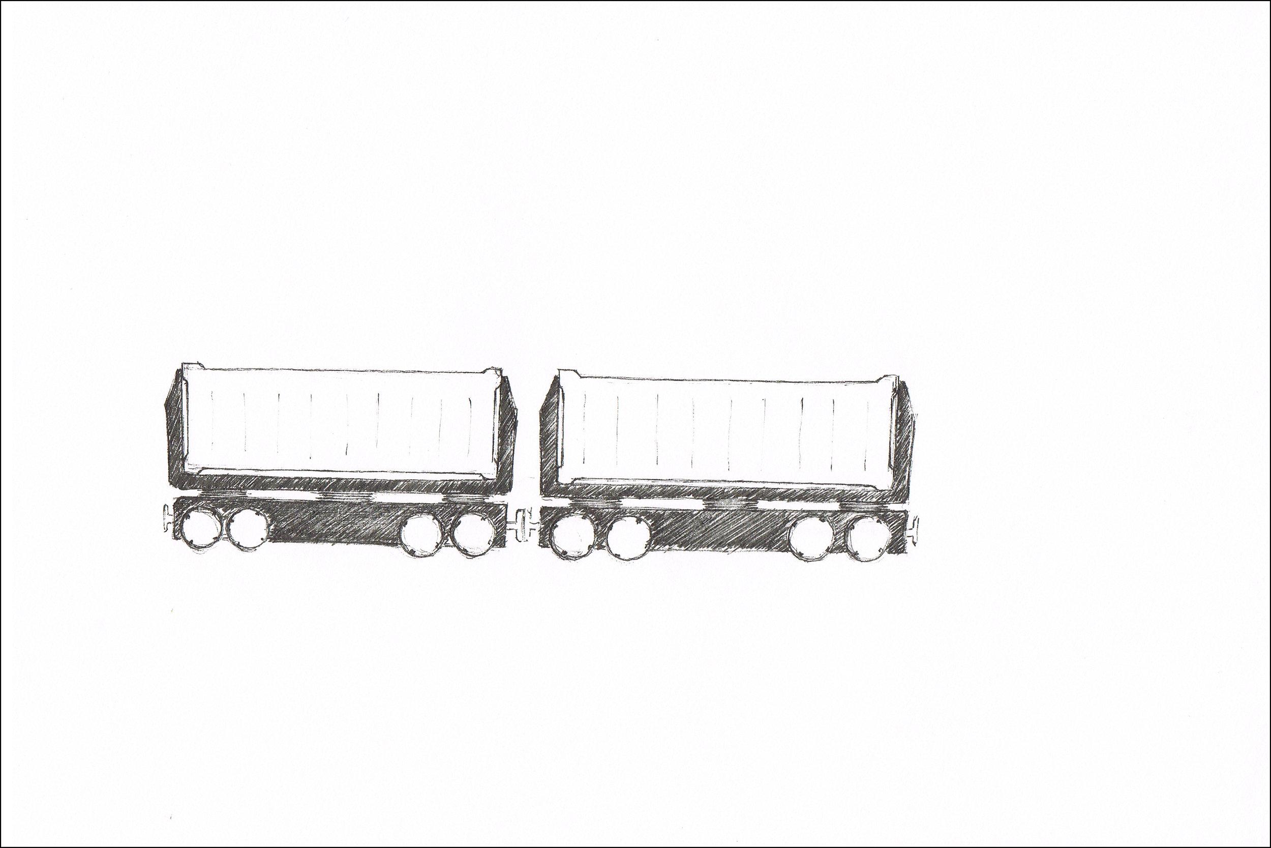 Multiple designs for a Cargo train