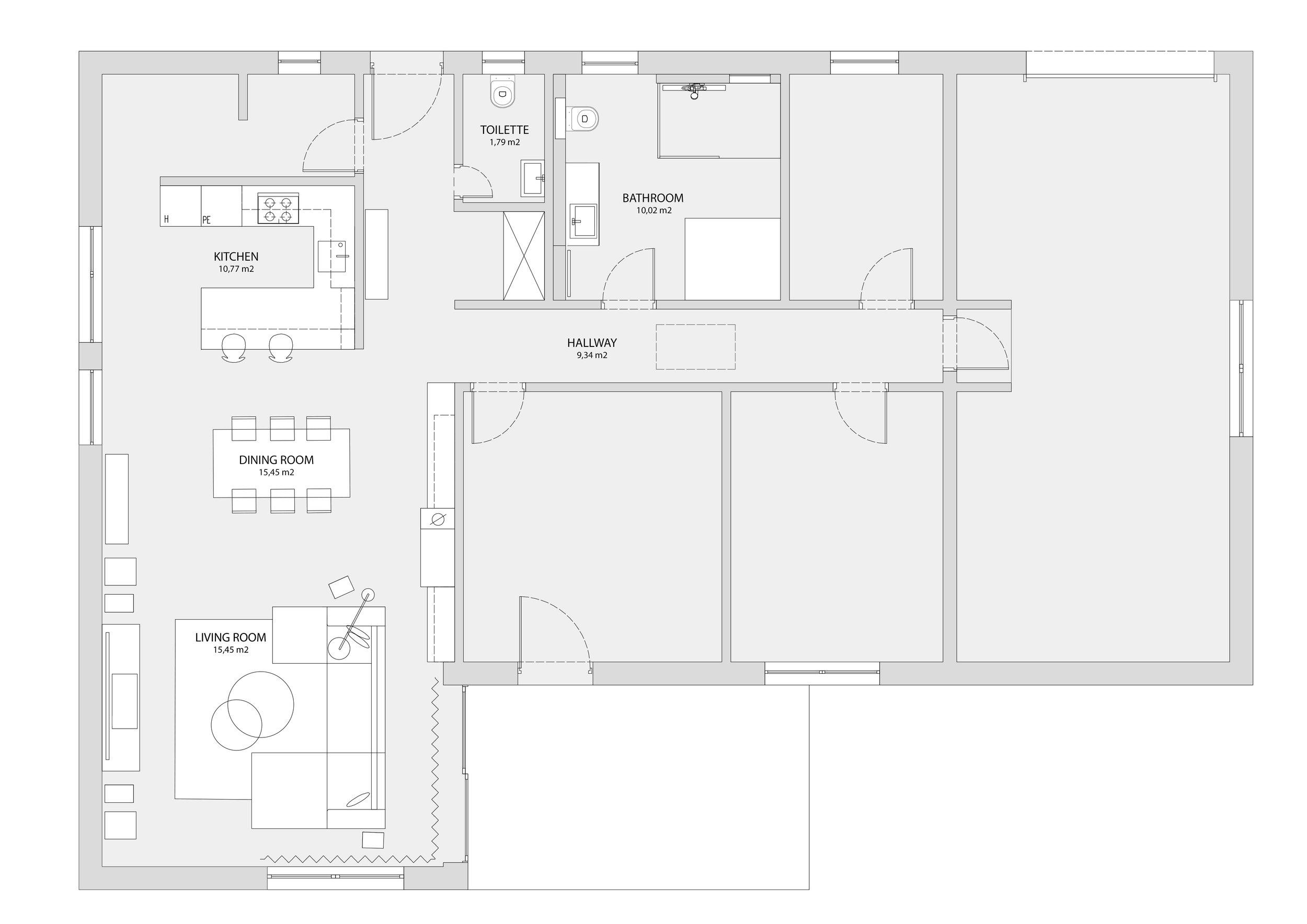projekt poke studio_hiša pohorje_tloris