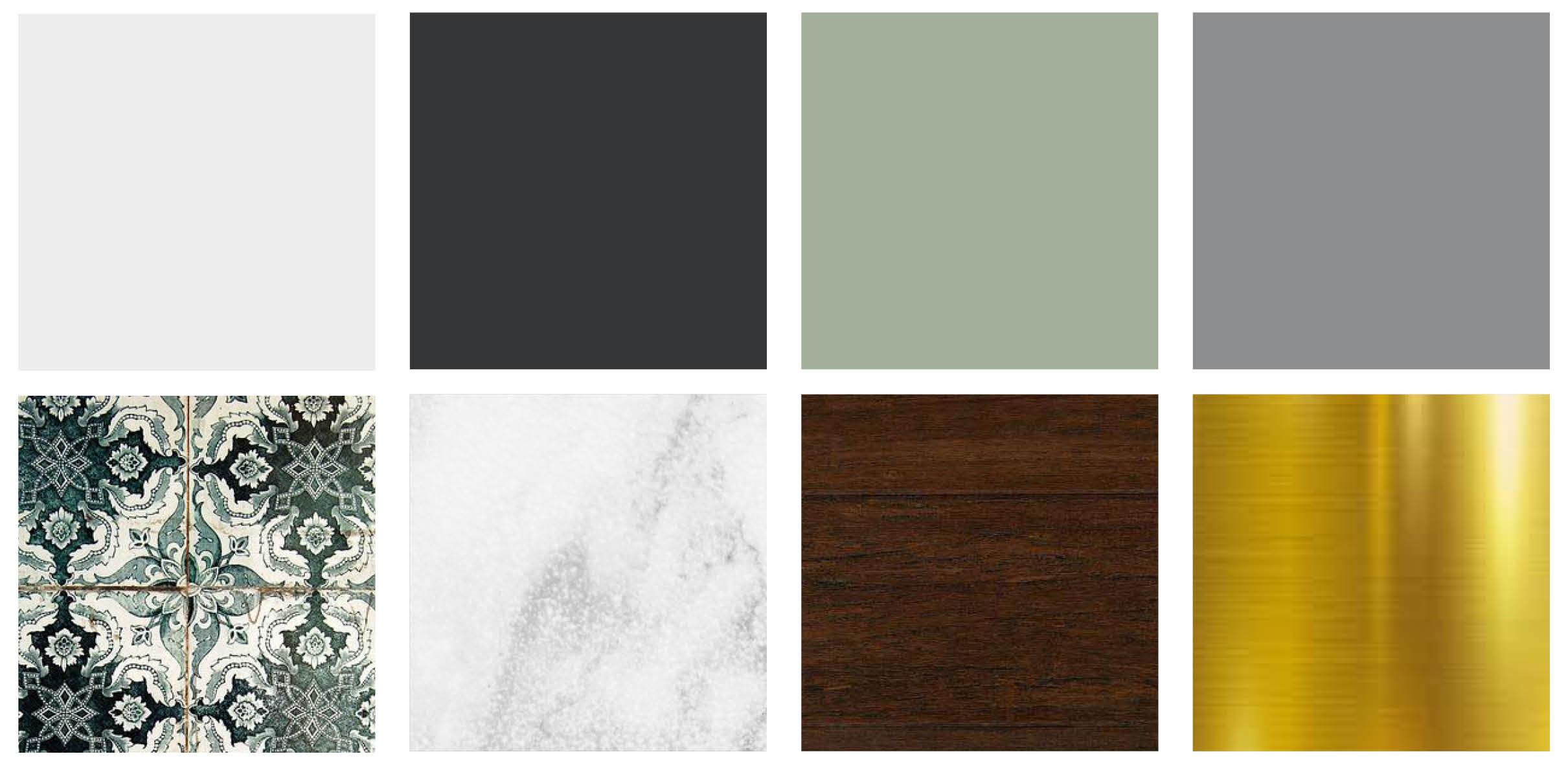 Materiali in barve, Poke studio, notranje oblikovanje