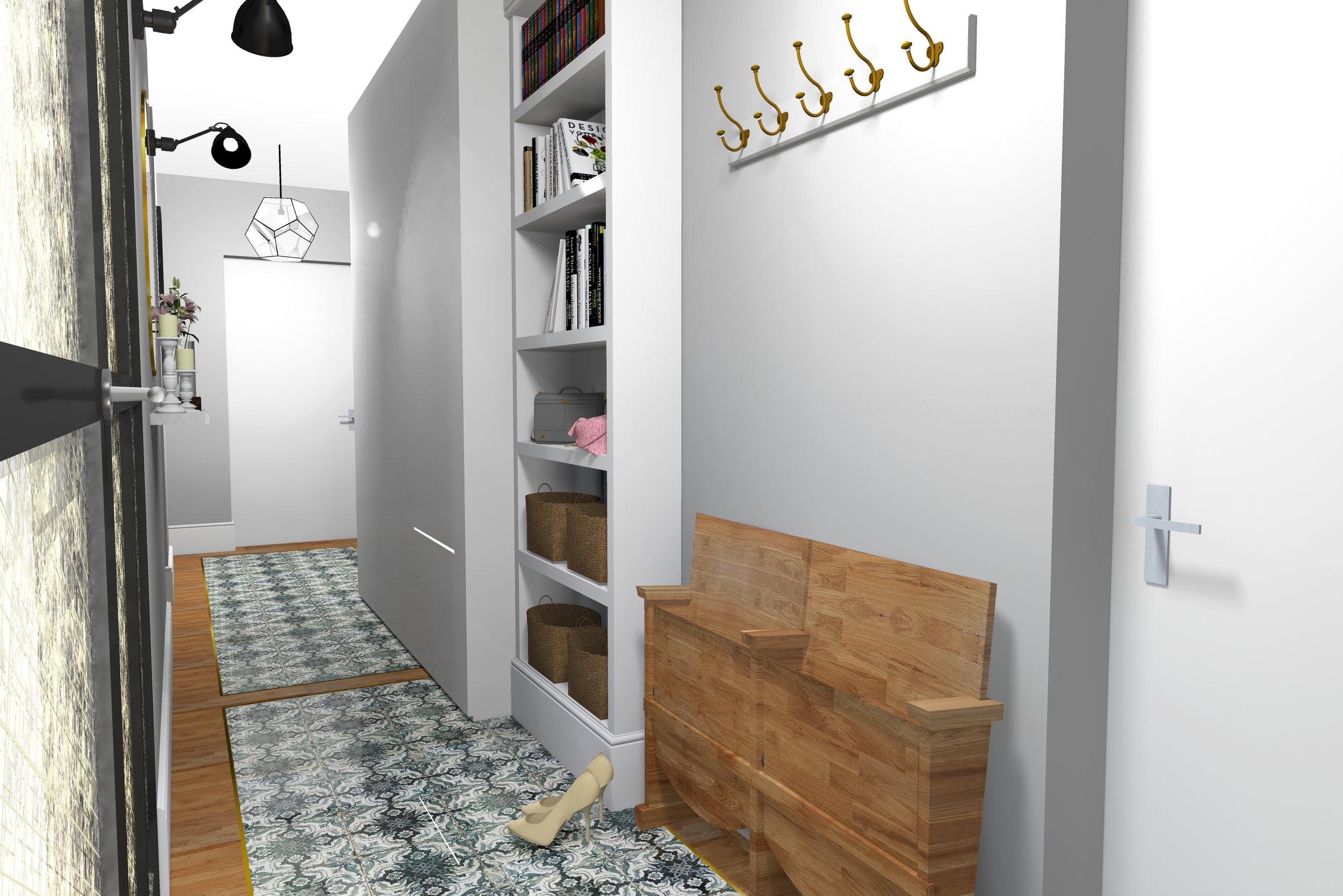 POKE studio, Notranja oprema, hodnik