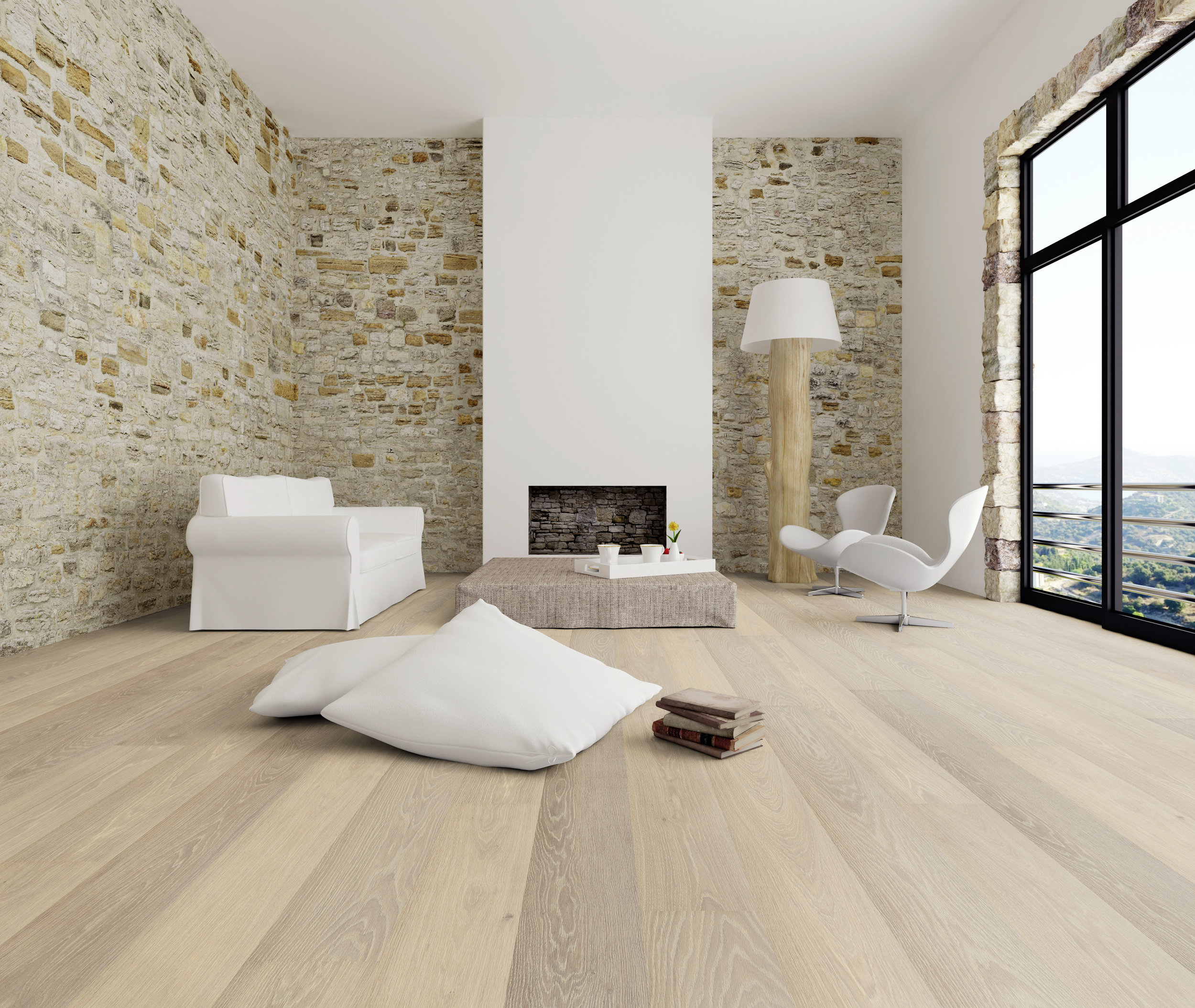 05. HAIN oak brushed, cappuccino brown oiled parquet