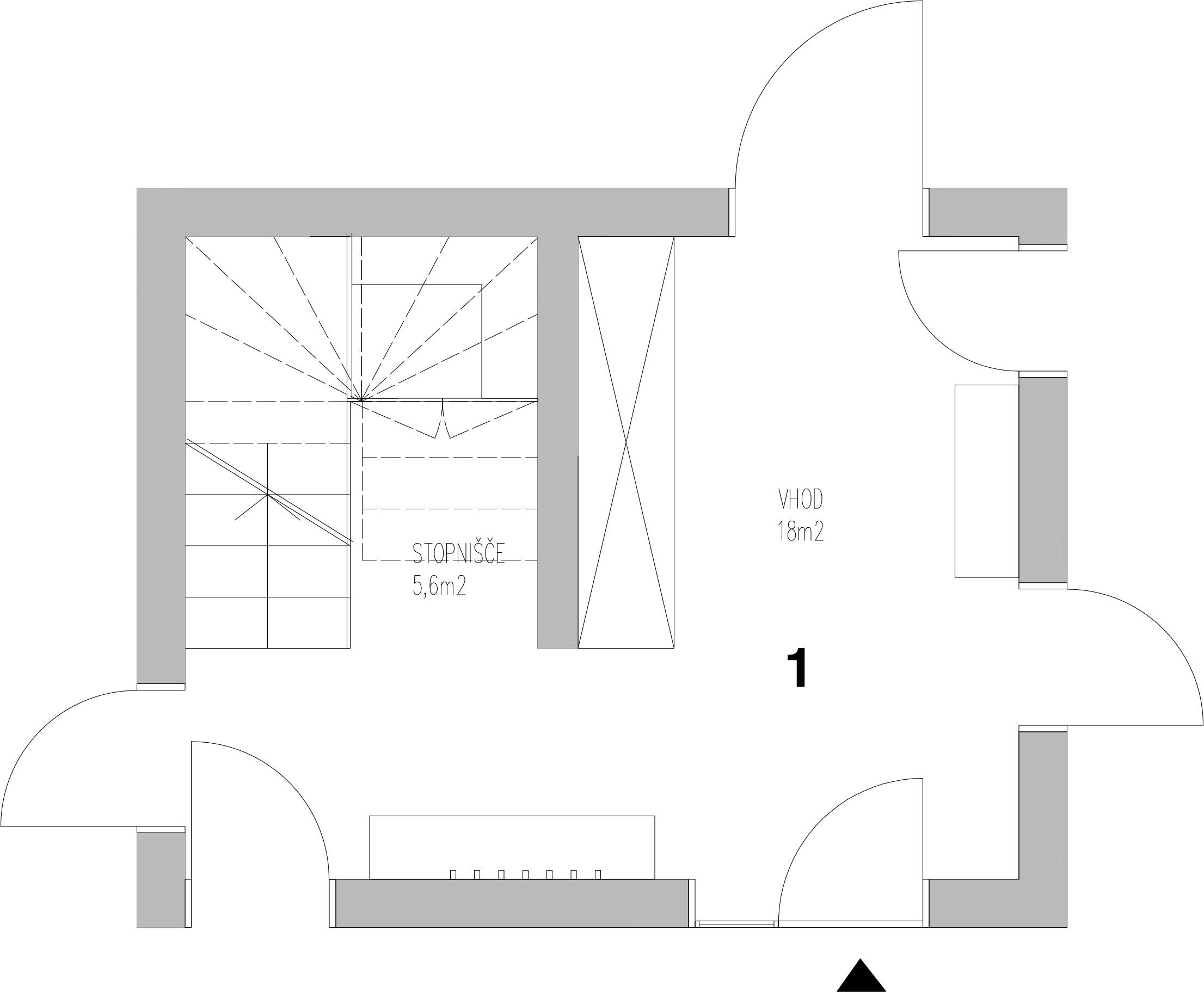 Ground floor - 1. Entrance