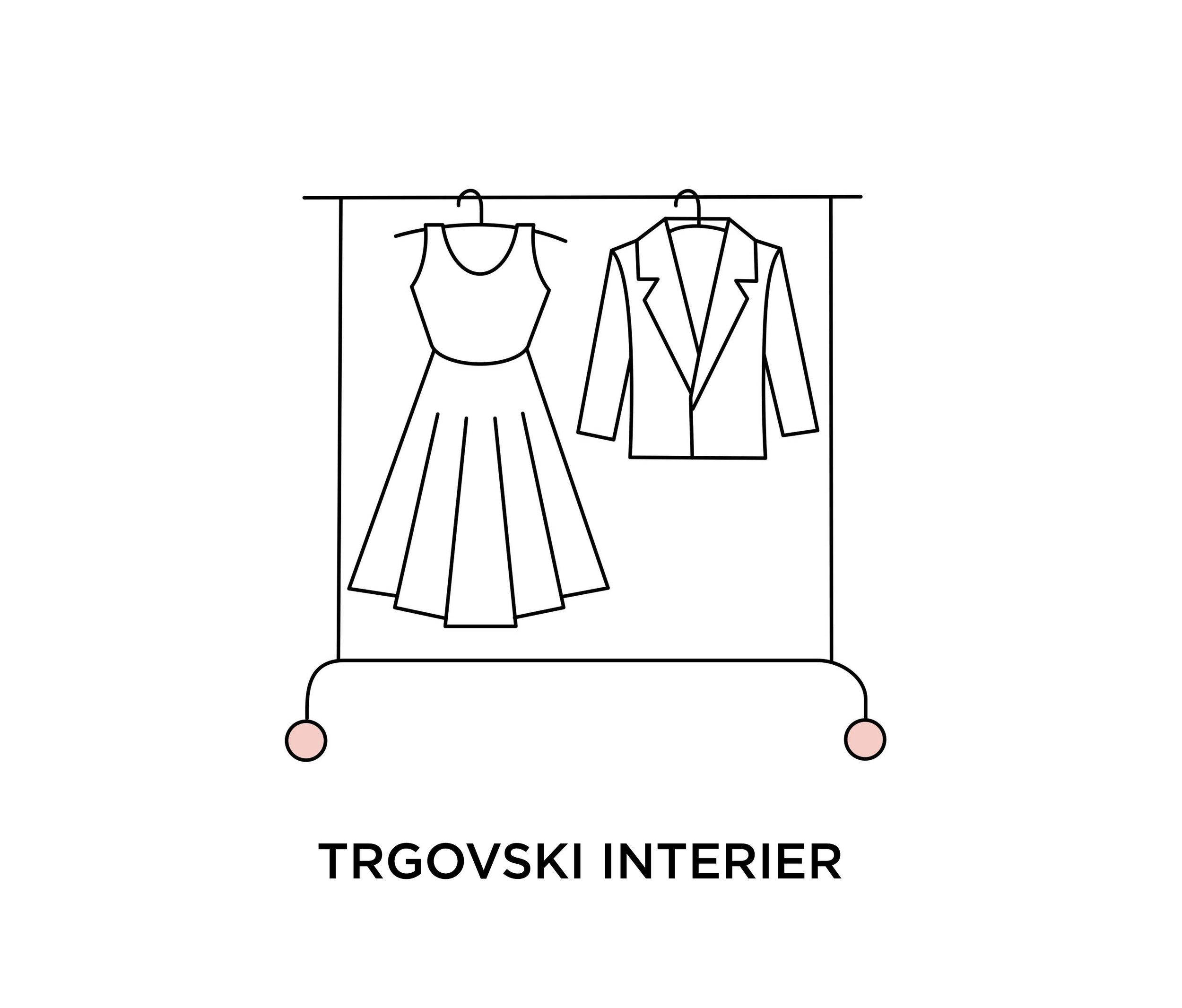 Trgovski interier - Idejna zasnova prodajnih površin.