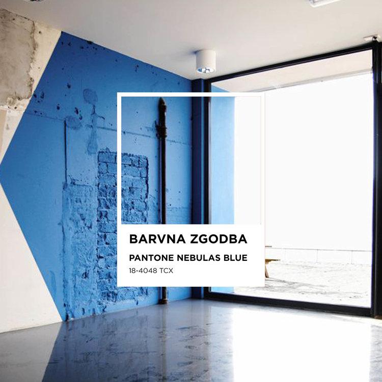 Poke studio, notranje oblikovanje, interior design, barvna zgodba, nebulas blue