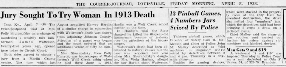 Jury Sought to Try Woman in 1913 Death that Viola Runyon witnessed