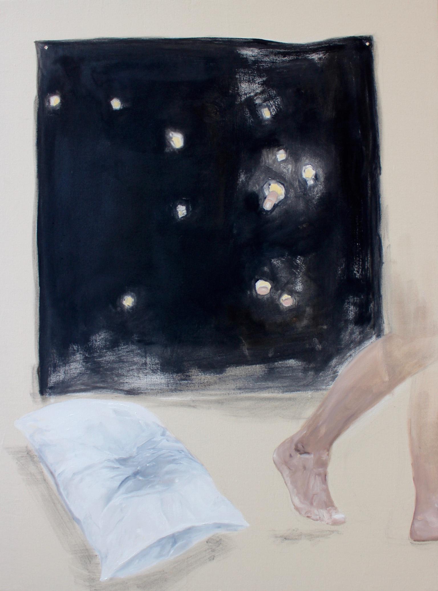 'Carbon Paper Night'  80cm x 100cm  Oil on Canvas