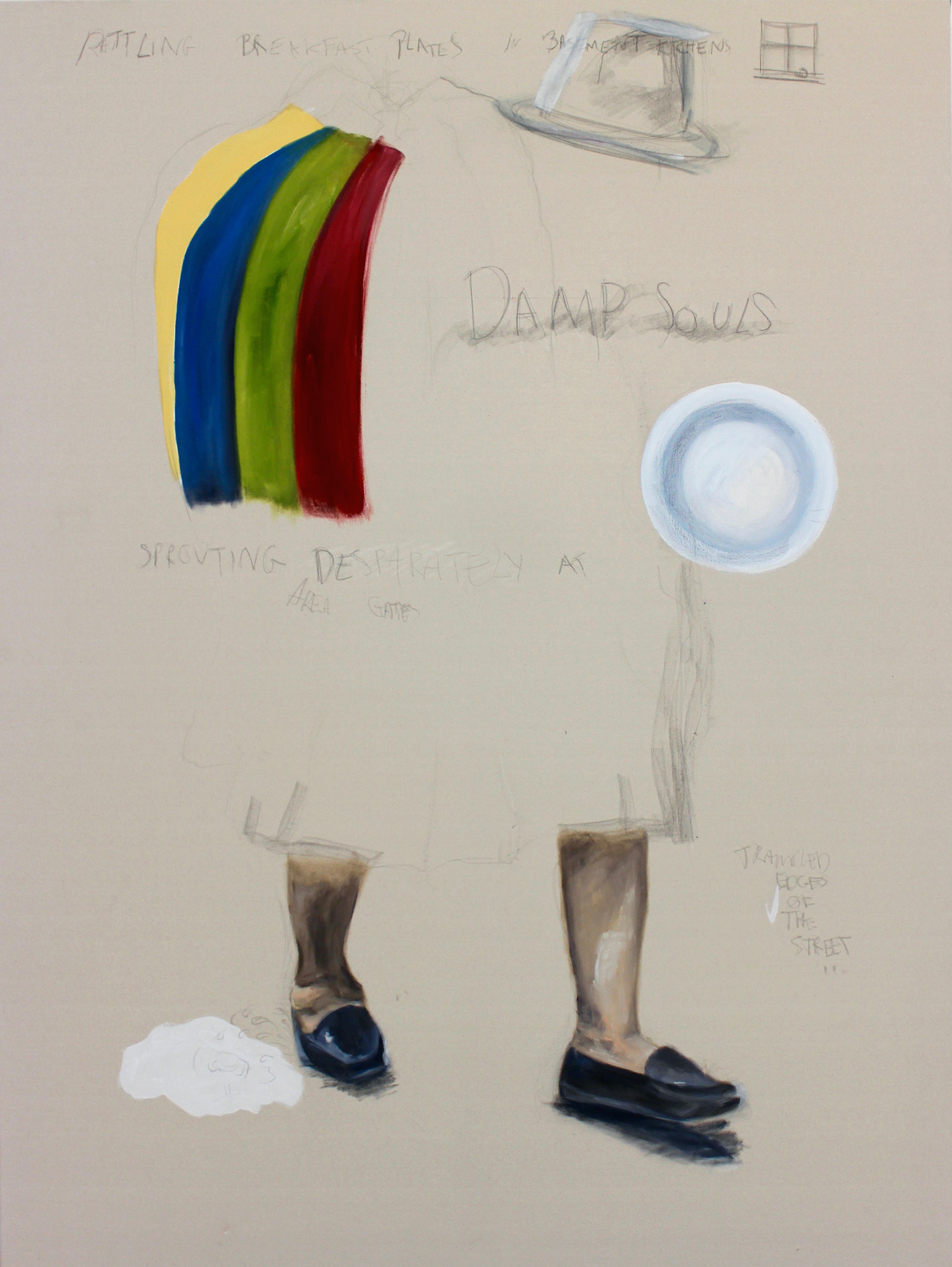 'Damp Souls'  120cm x 160cm  Oil on Canvas