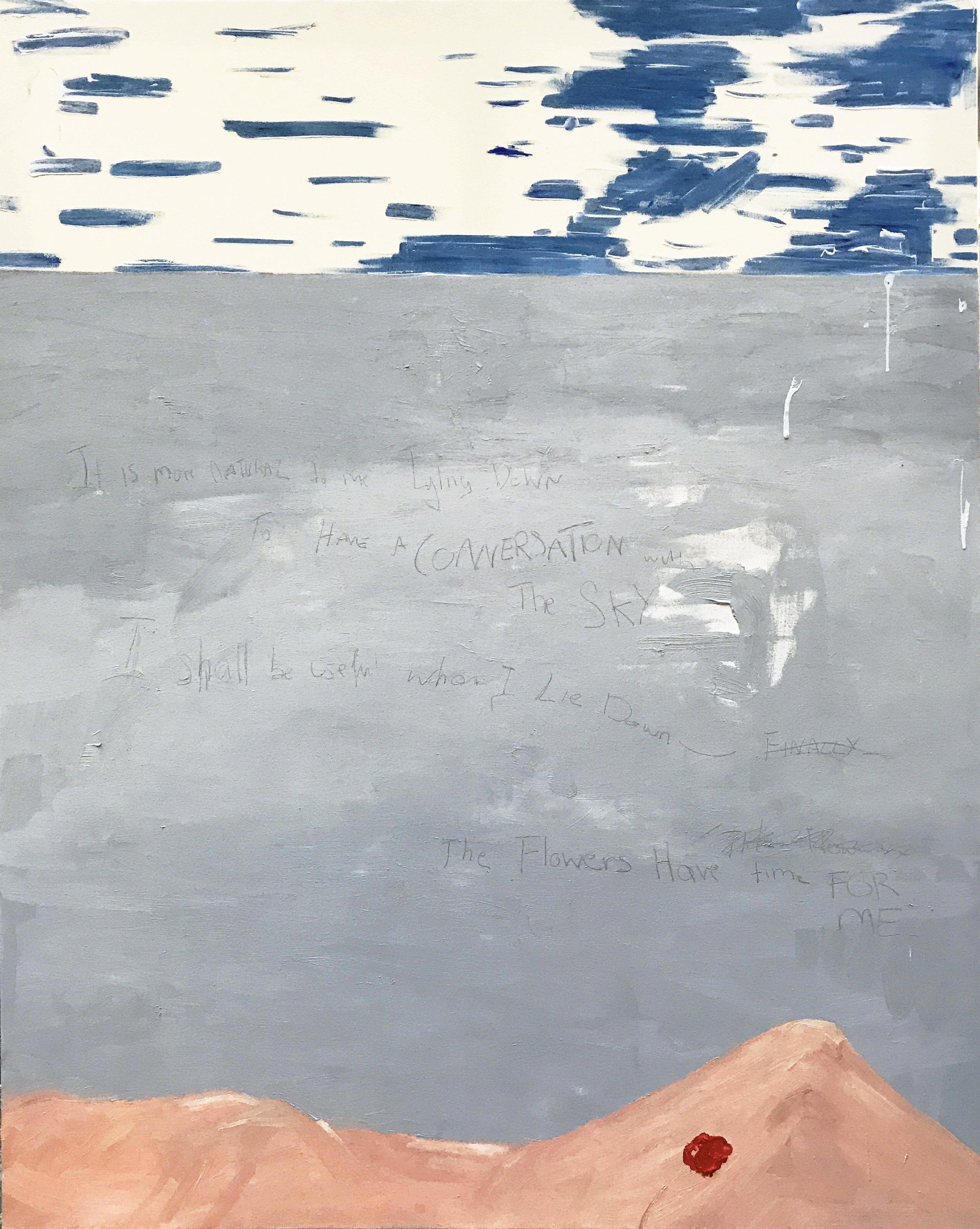 'Horizontal'  Oil on Canvas  160cm x 130cm