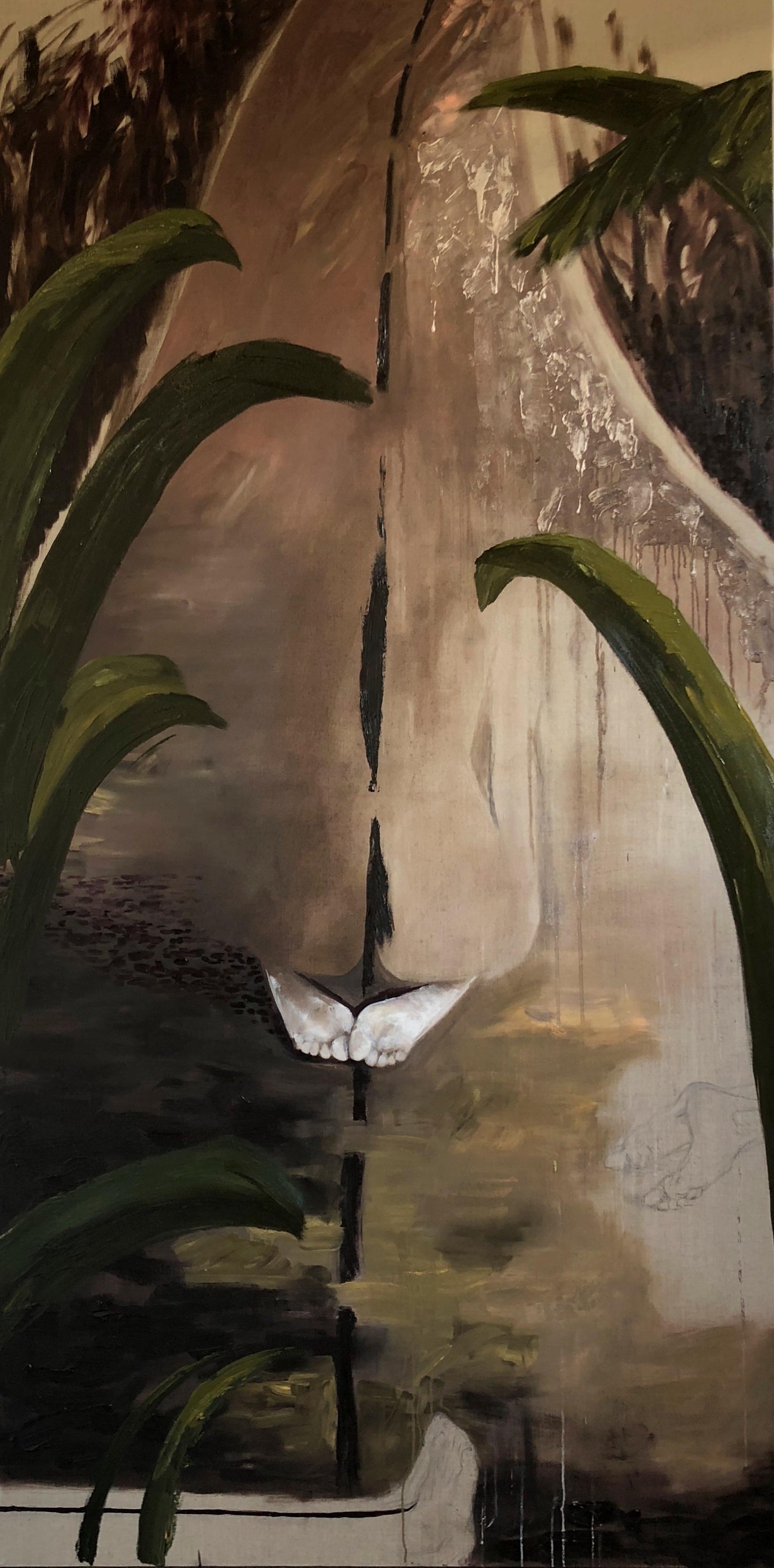 Body in my Path  Oil on Canvas, 230cm x 130cm