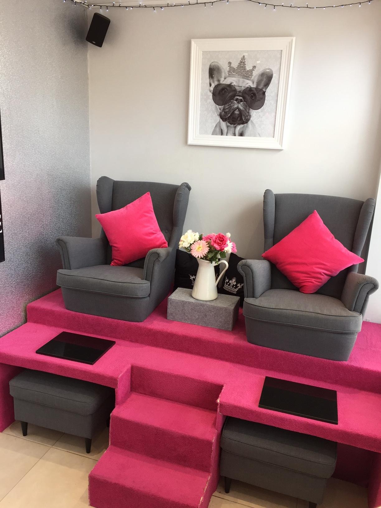Purpose built pedicure area for maximum client comfort!