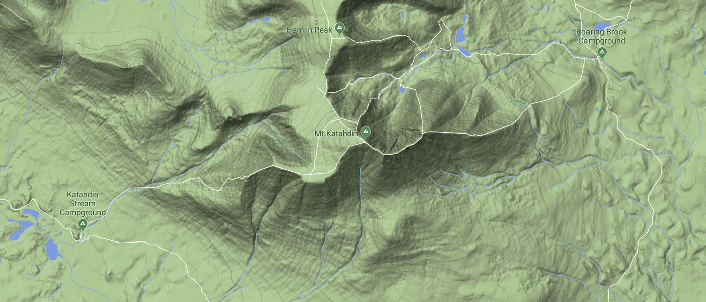 Katahdin Climbing Map
