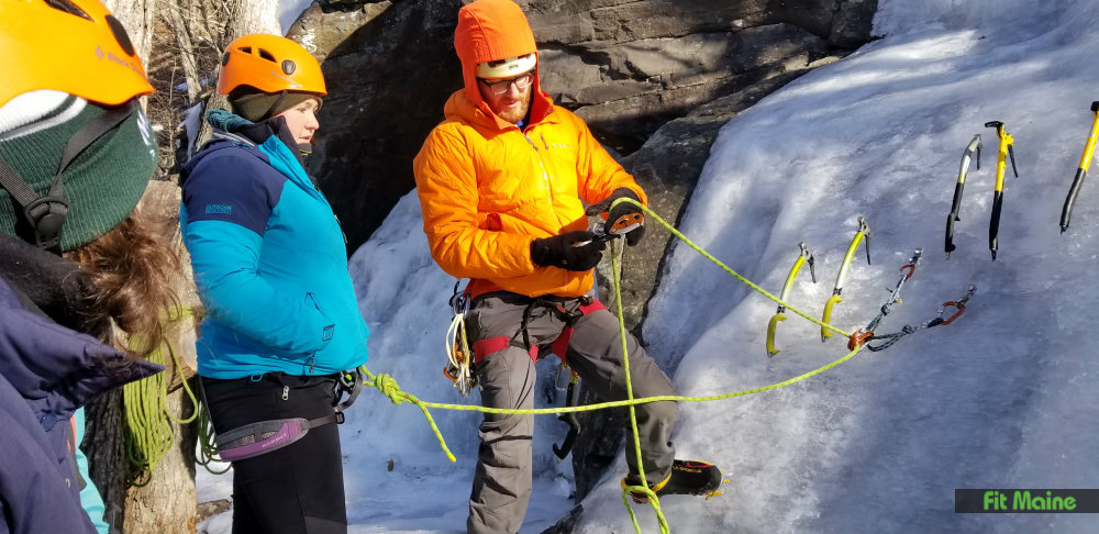 Learning the skills for Ice Climbing
