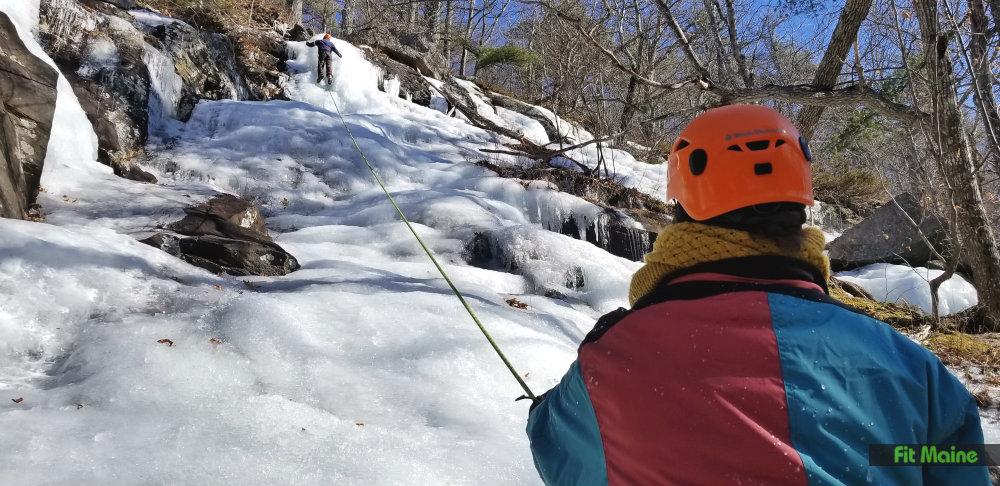 Ice Climbing Maine