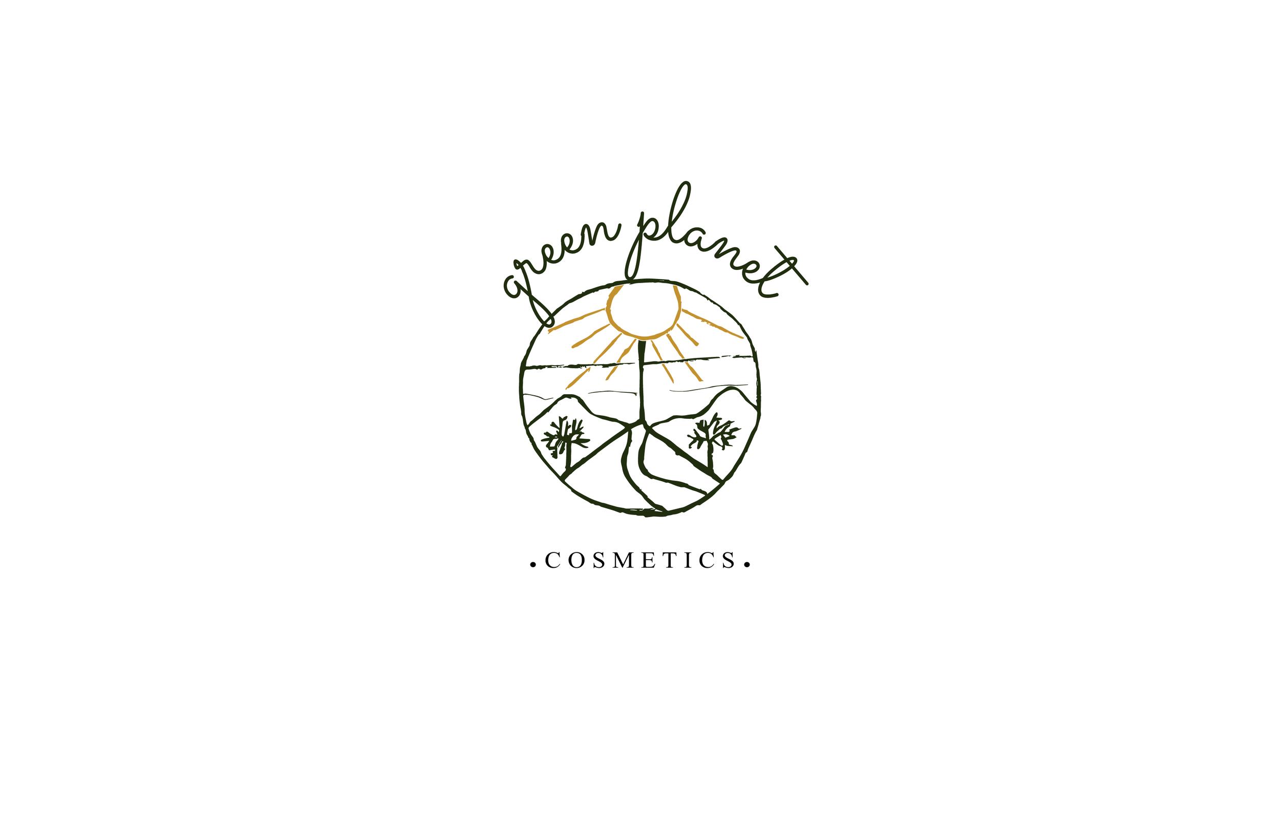 Green planet cosmetics logo design.png