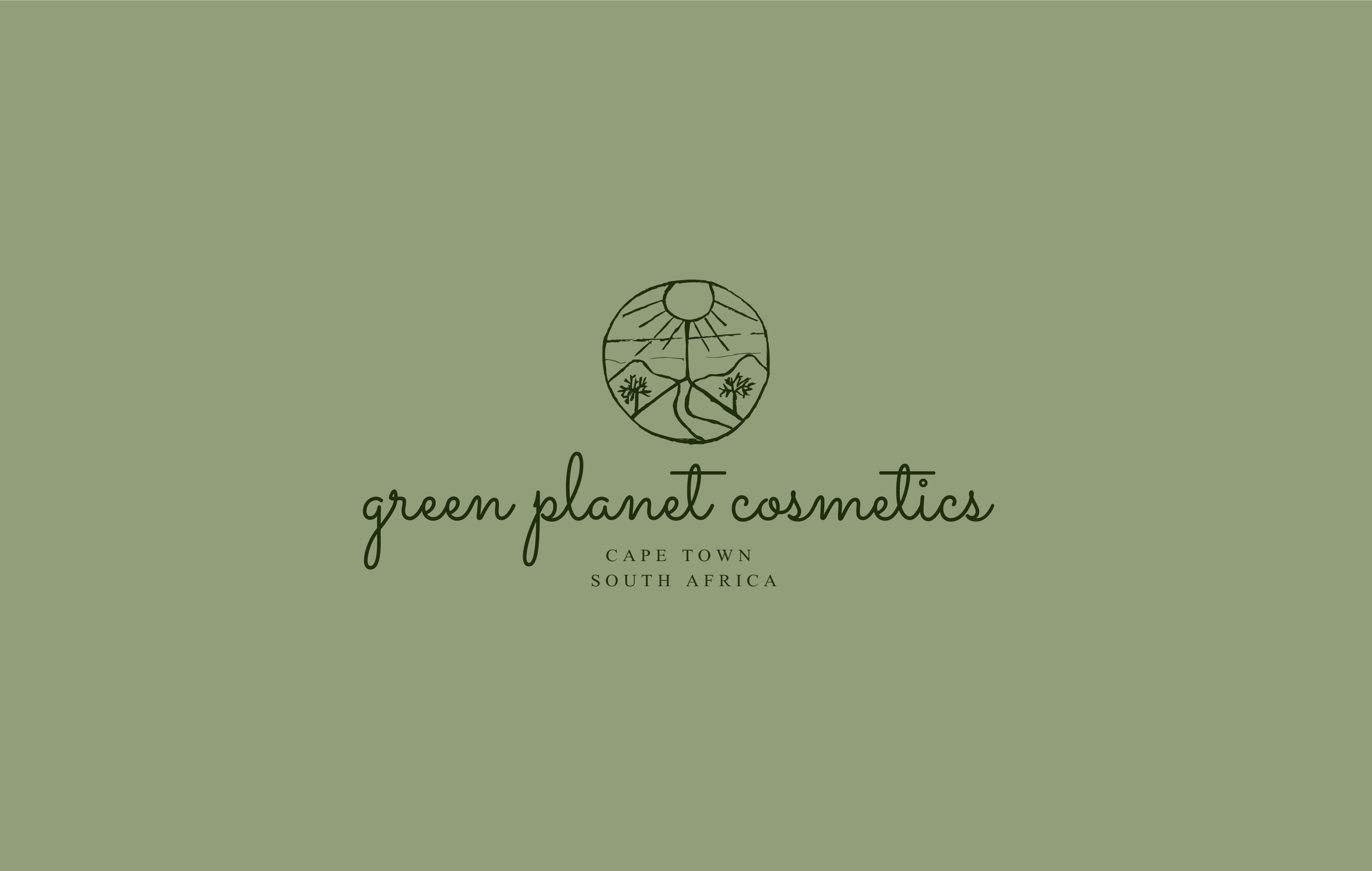 Green planet cosmetics alternative logo