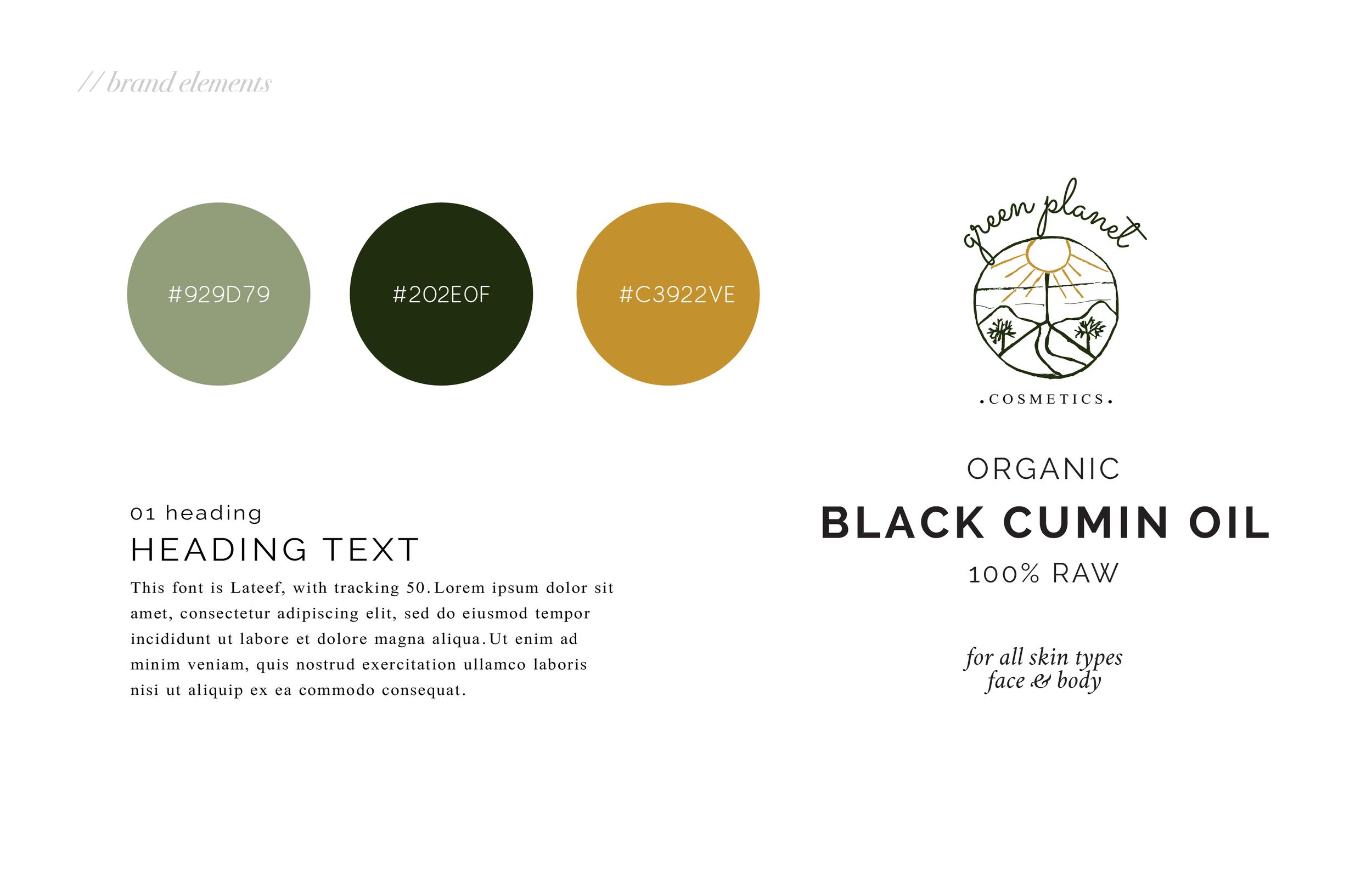 Green planet cosmetics brand board