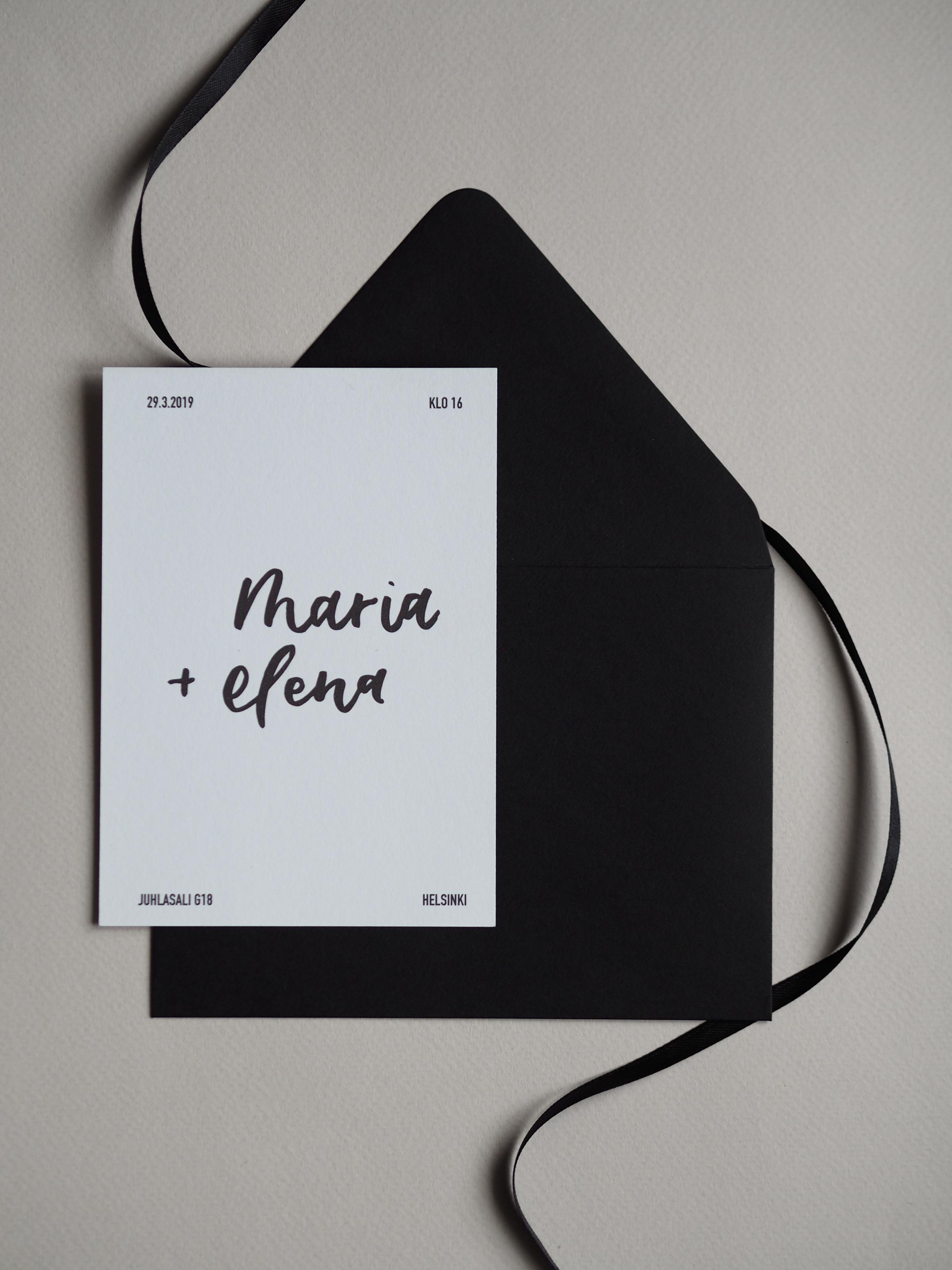 minimalist hääkutsut