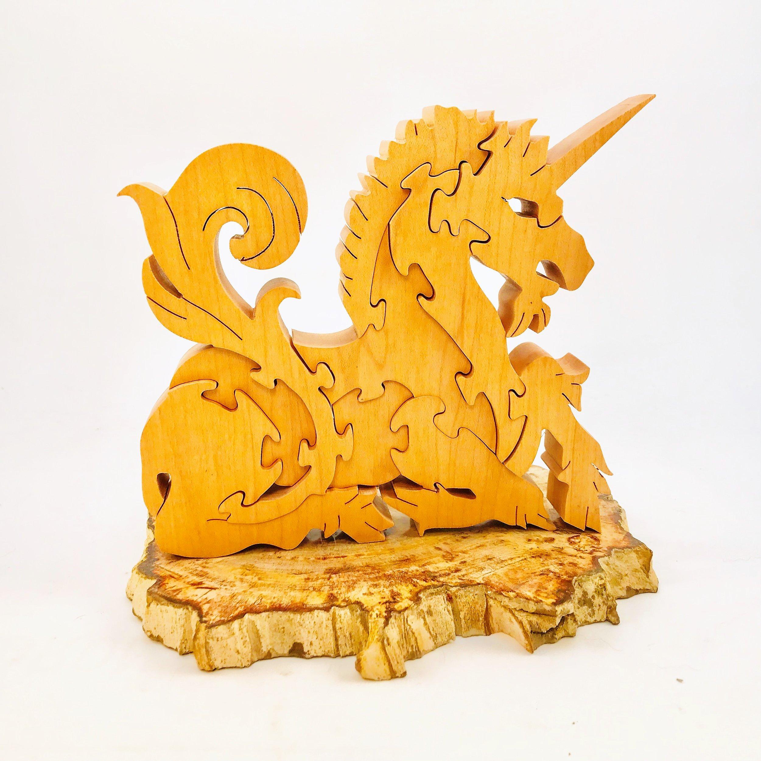 1983 3-D Jigsaw Stand up Puzzle \u2013 Unicorn