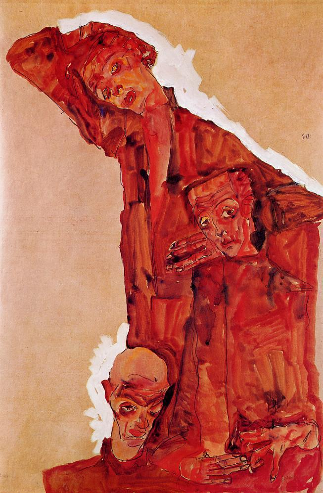 EgonSchiele, Composition with Three Male Figures (1911).jpg