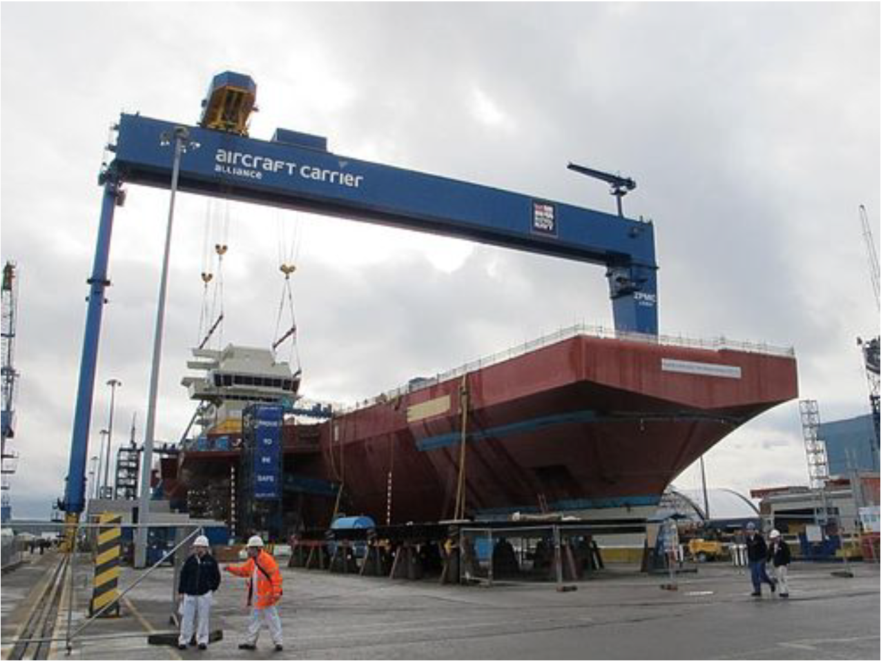 The Goliath Gantry Crane constructing the QueenElizabeth aircraft carrier -