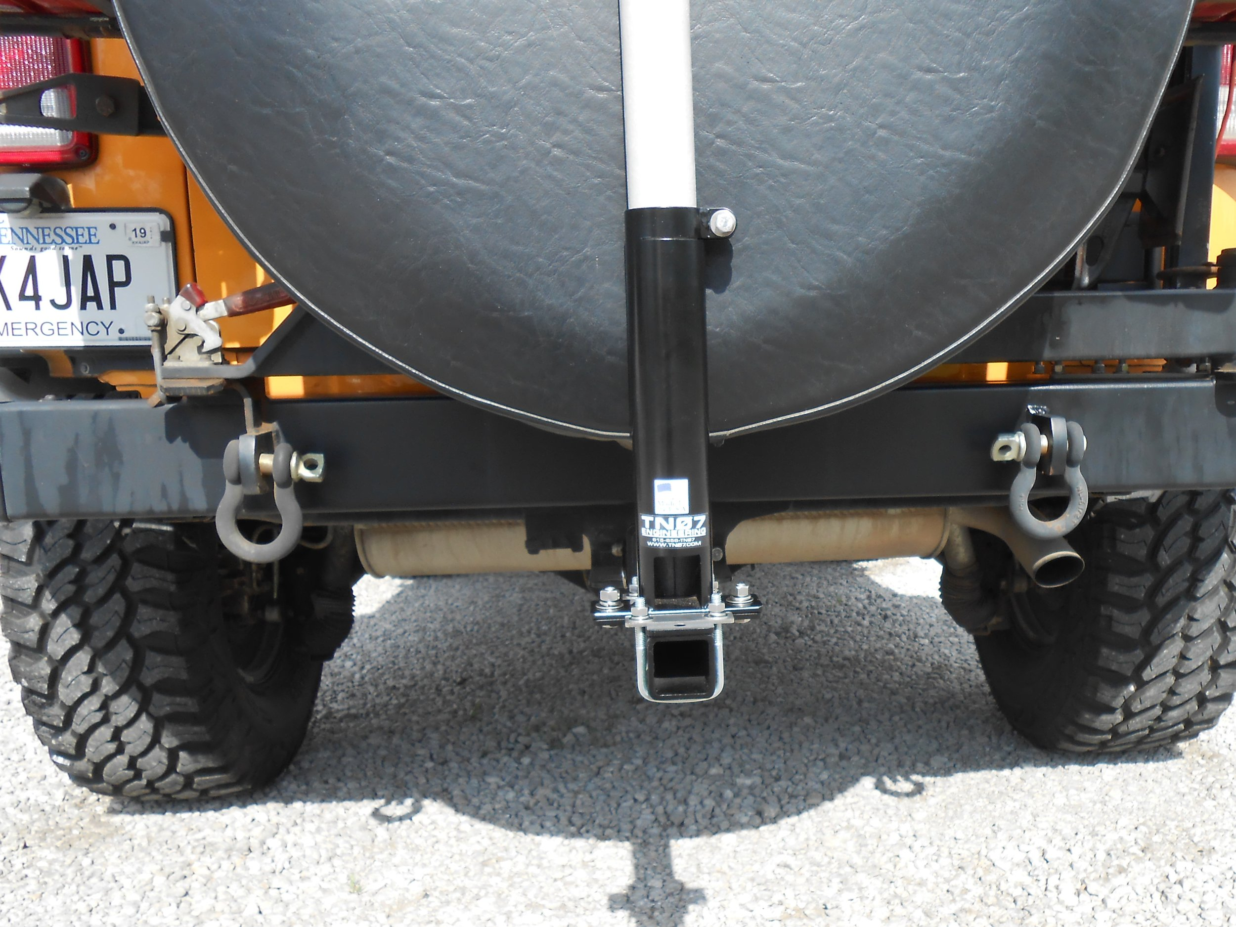 "Hitch Mount with 10.5"" Hitch Extension Bar"