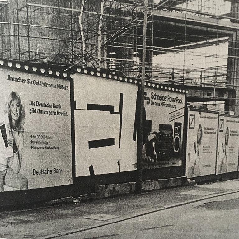 Plakat Aktion Frankfurt, City of Frankfurt, Germany. 1980