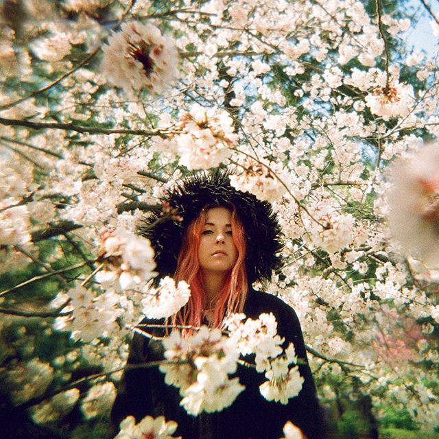 "I snapped a pic, @thebetamacks perfected pop. ""Imaginary World"" ep drops today 🔥🌏 #holga #cherryblossomgirl"