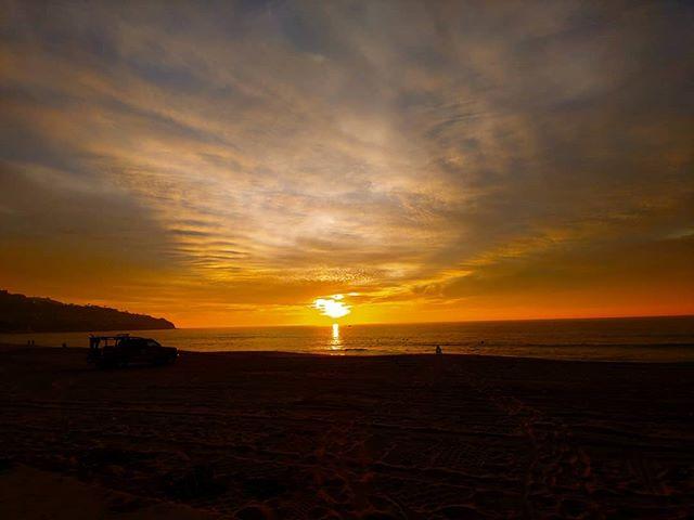 Rain now fish fry later. 🚲 ❤️ #california #ocean #sunset