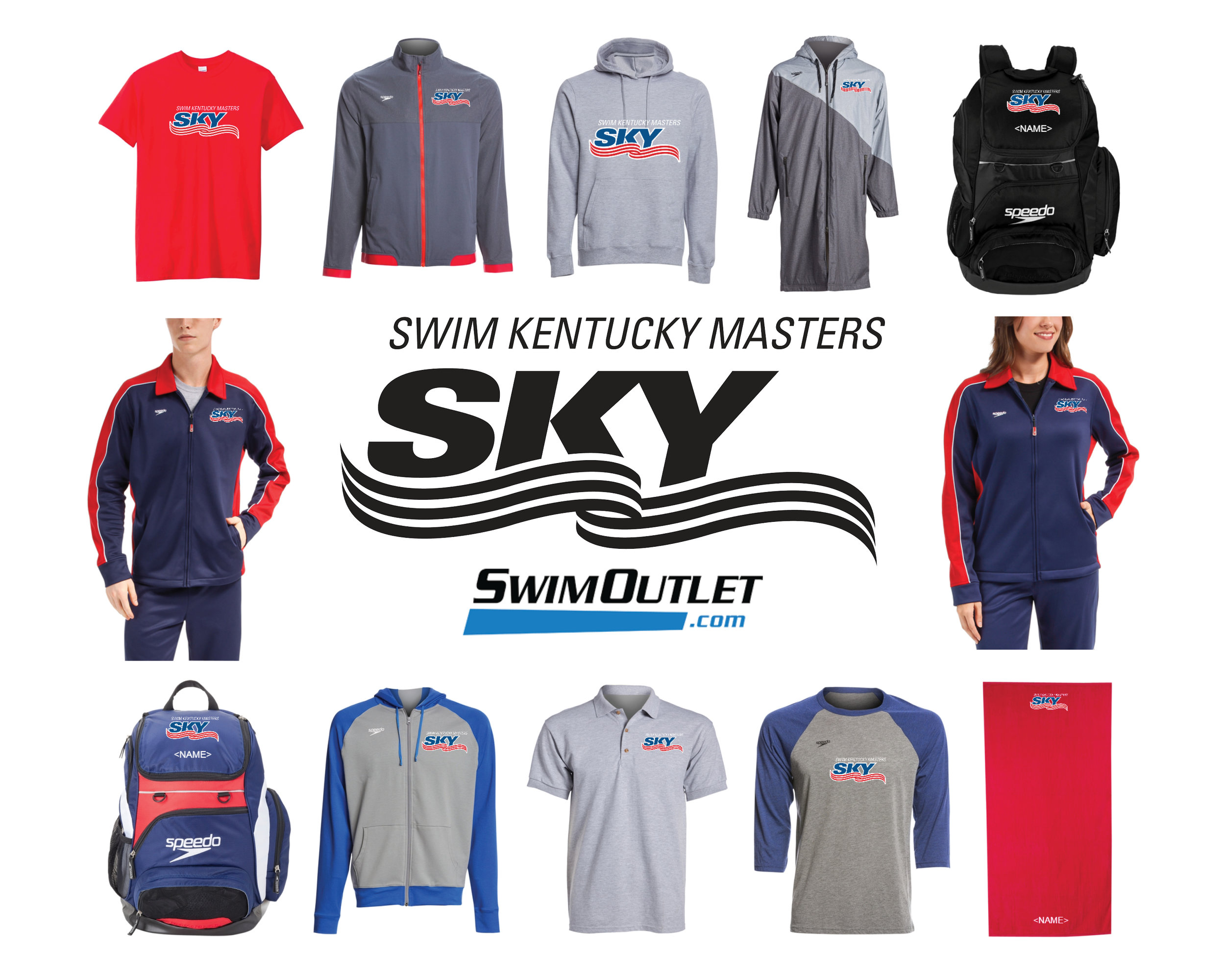 Visit  swimoutlet.com/kentuckymasters  today to get your SKY gear for Nationals!