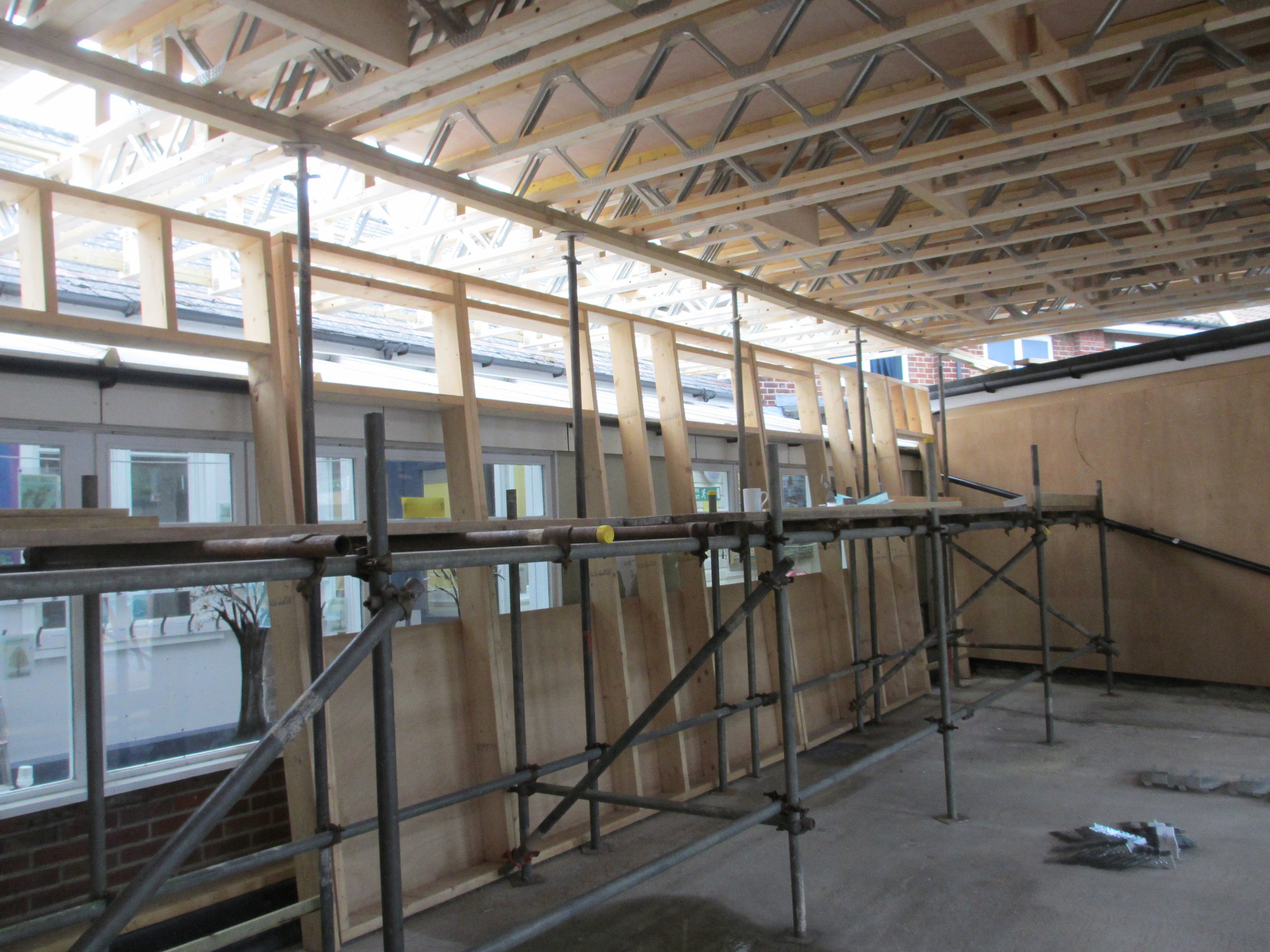 Internal view during construction.