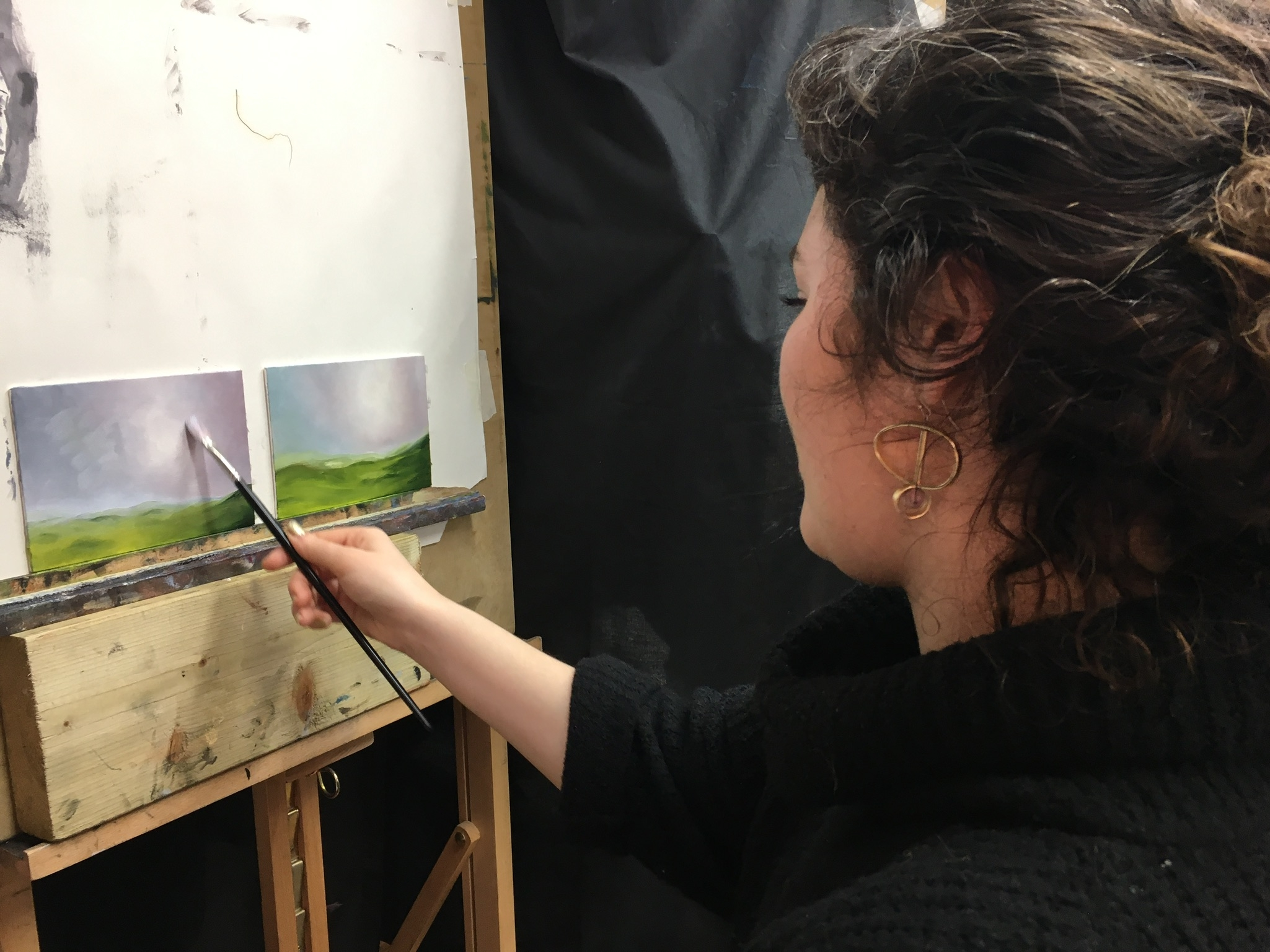 CAA Brunette Woman Landscape