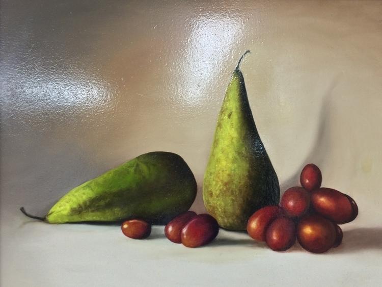CAA Pear and Grapes Still Life