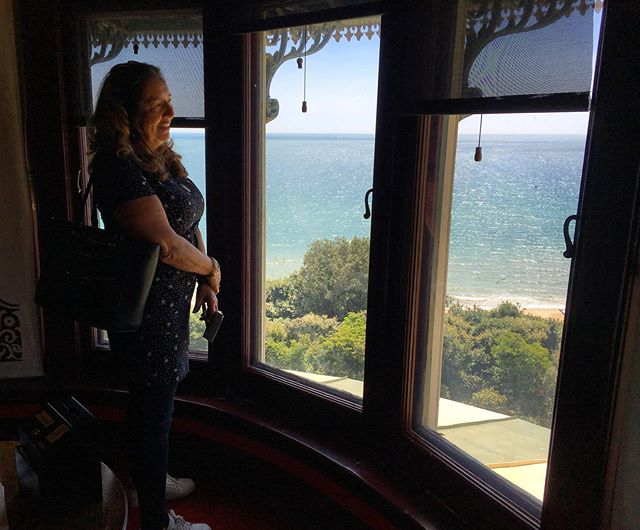 This week we did a few local tourists trips with our guests. Some lovely adventurous women exploring our beautiful Dorset. This is a view from a room @russellcotes one of our treasured Bournemouth attractions. #ourbnbmemories #lovesouthbourne #visitbournemouth