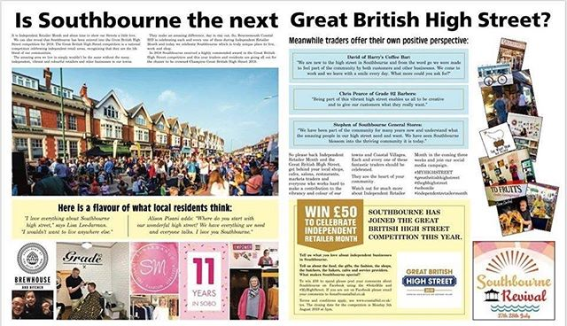 To all our lovely followers, any of you who have enjoyed our high street we would greatly appreciate your support to win this national competition. All we need you to do is post a picture and put #myhighstreet #sobomile #lovesouthbourne ... many thanks 🌸
