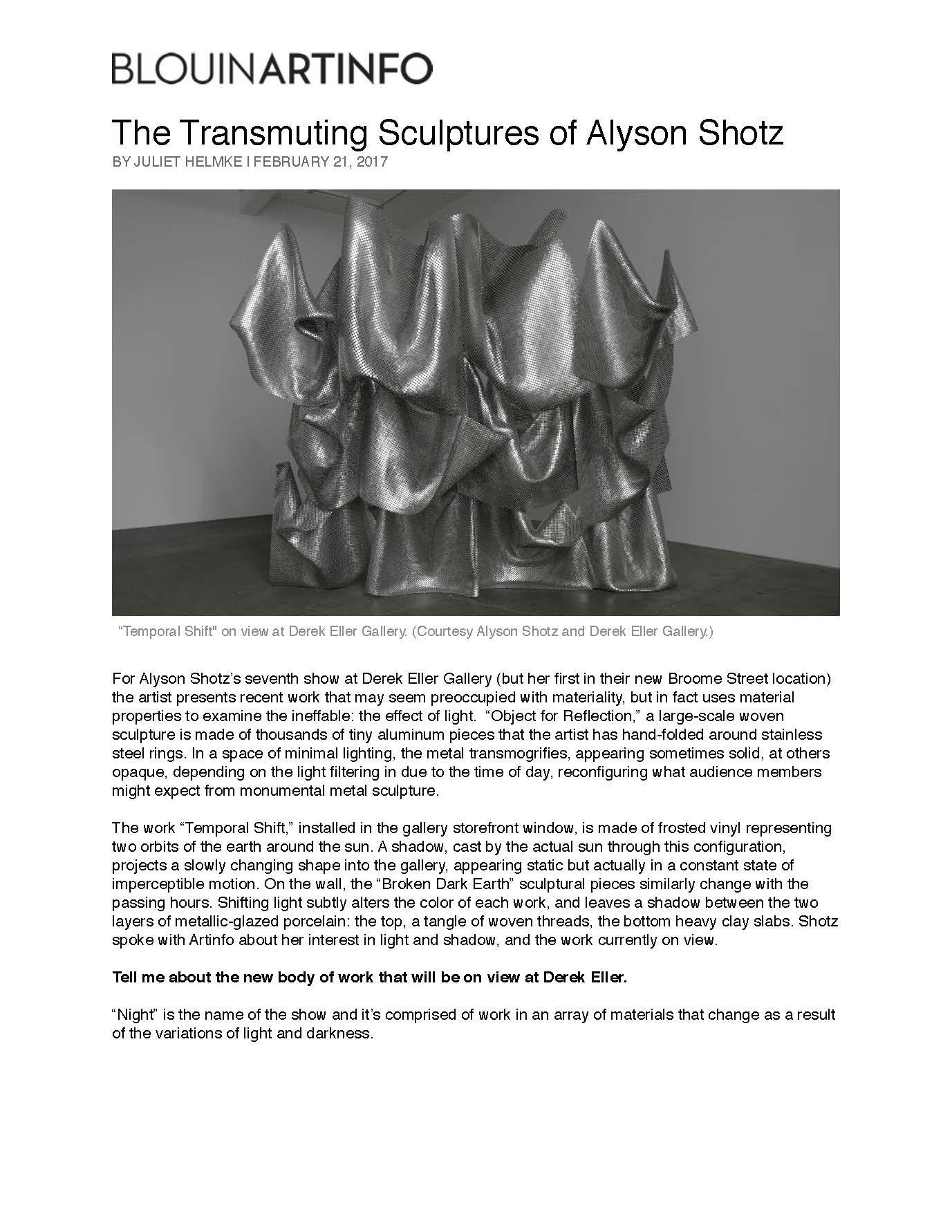 Blouin Art Info: February, 2017