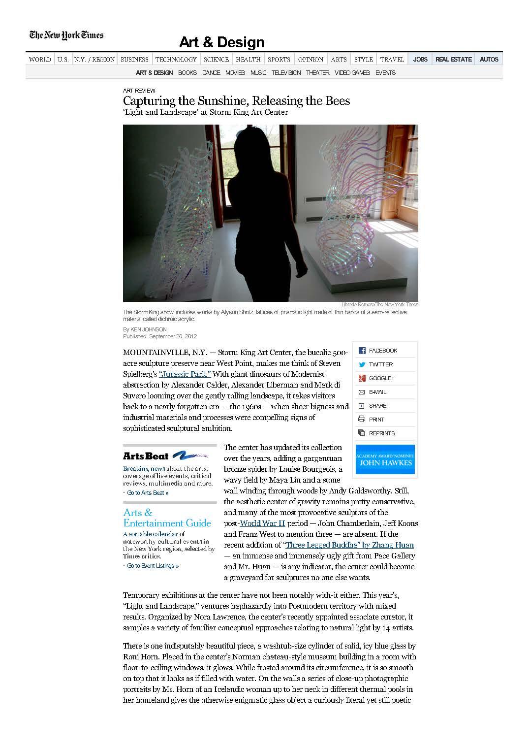 New York Times: September, 2012