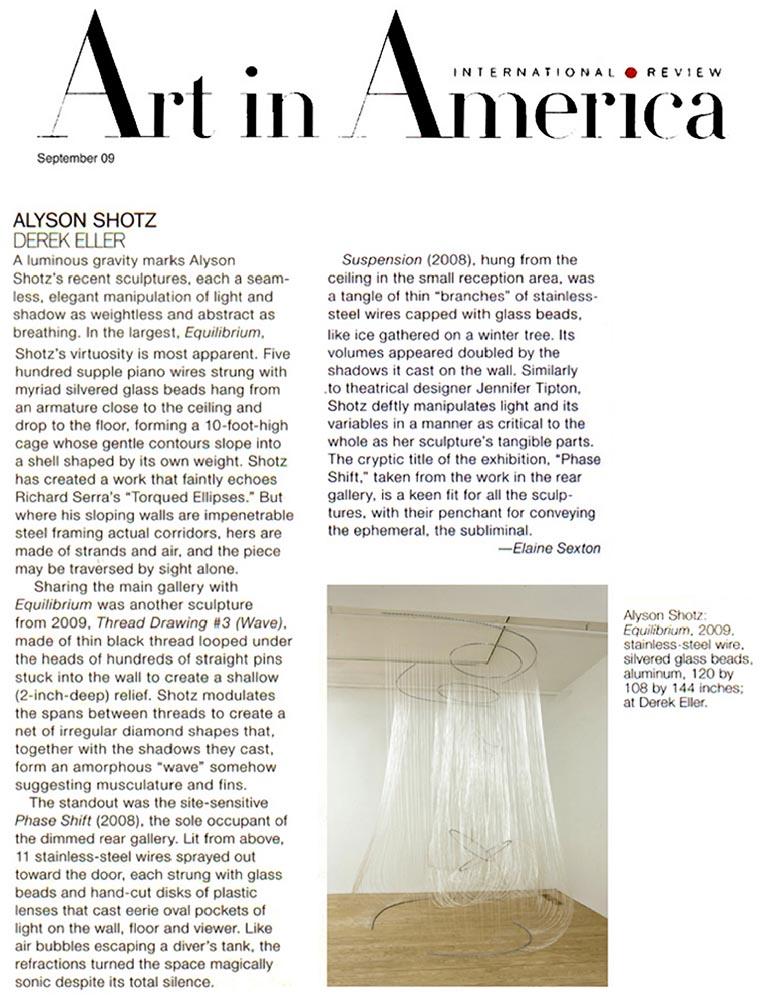 Art in America: September, 2009
