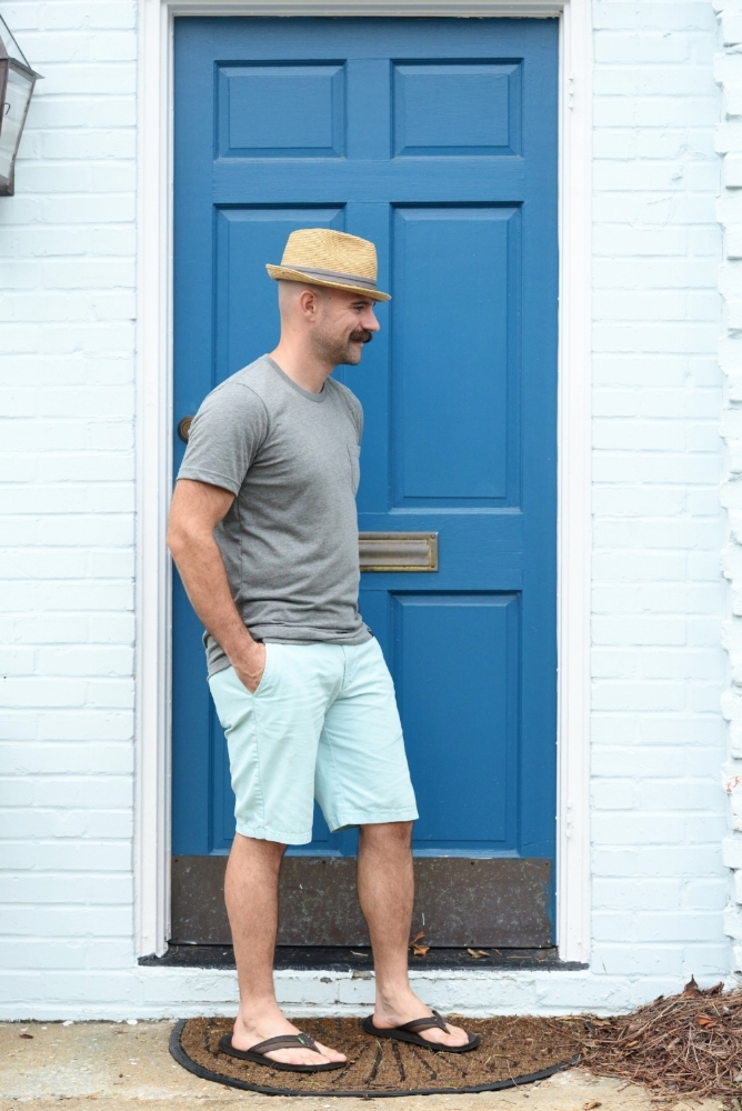 Blue Door Threading Water