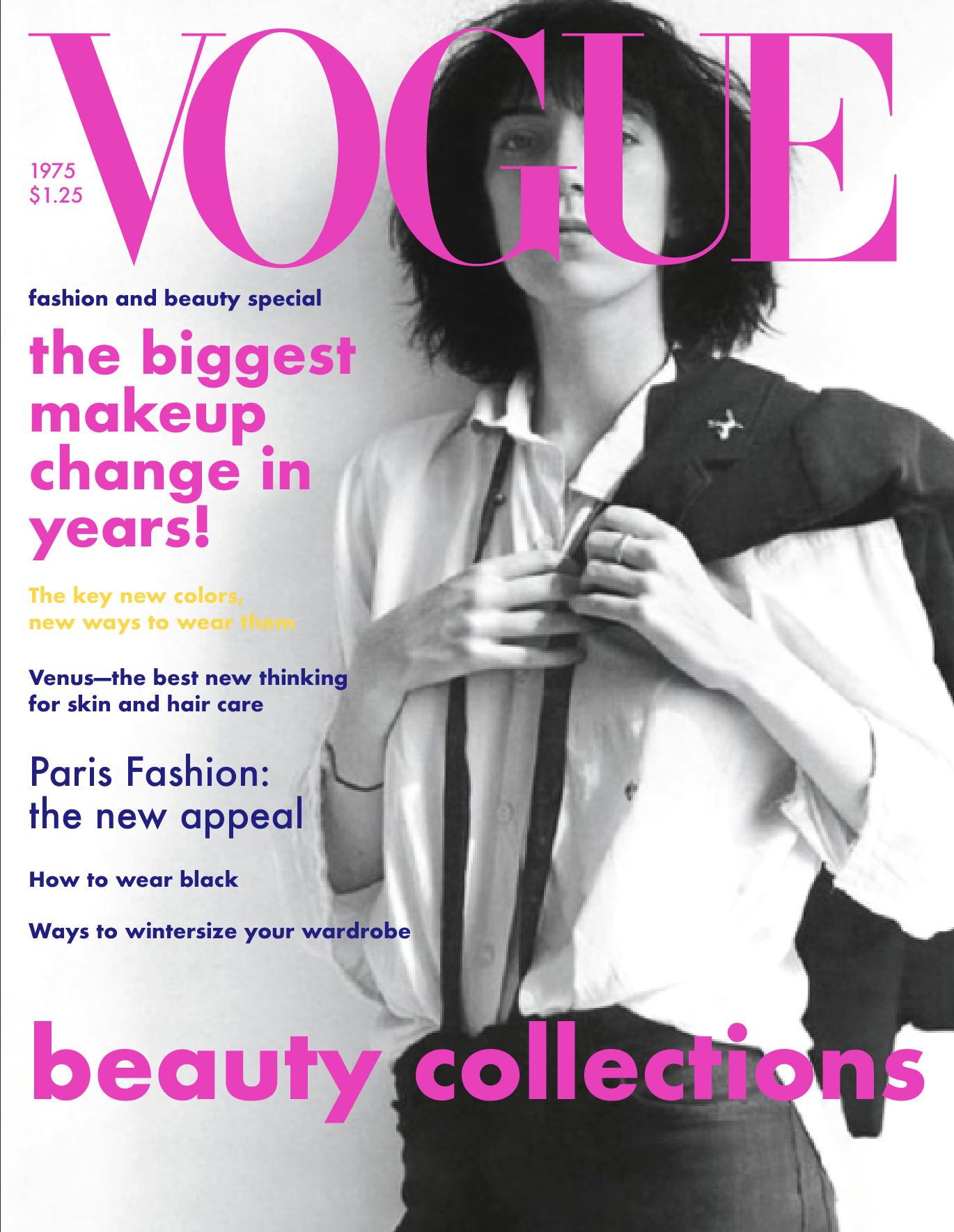 Patti Smith/ 1975 American Vogue