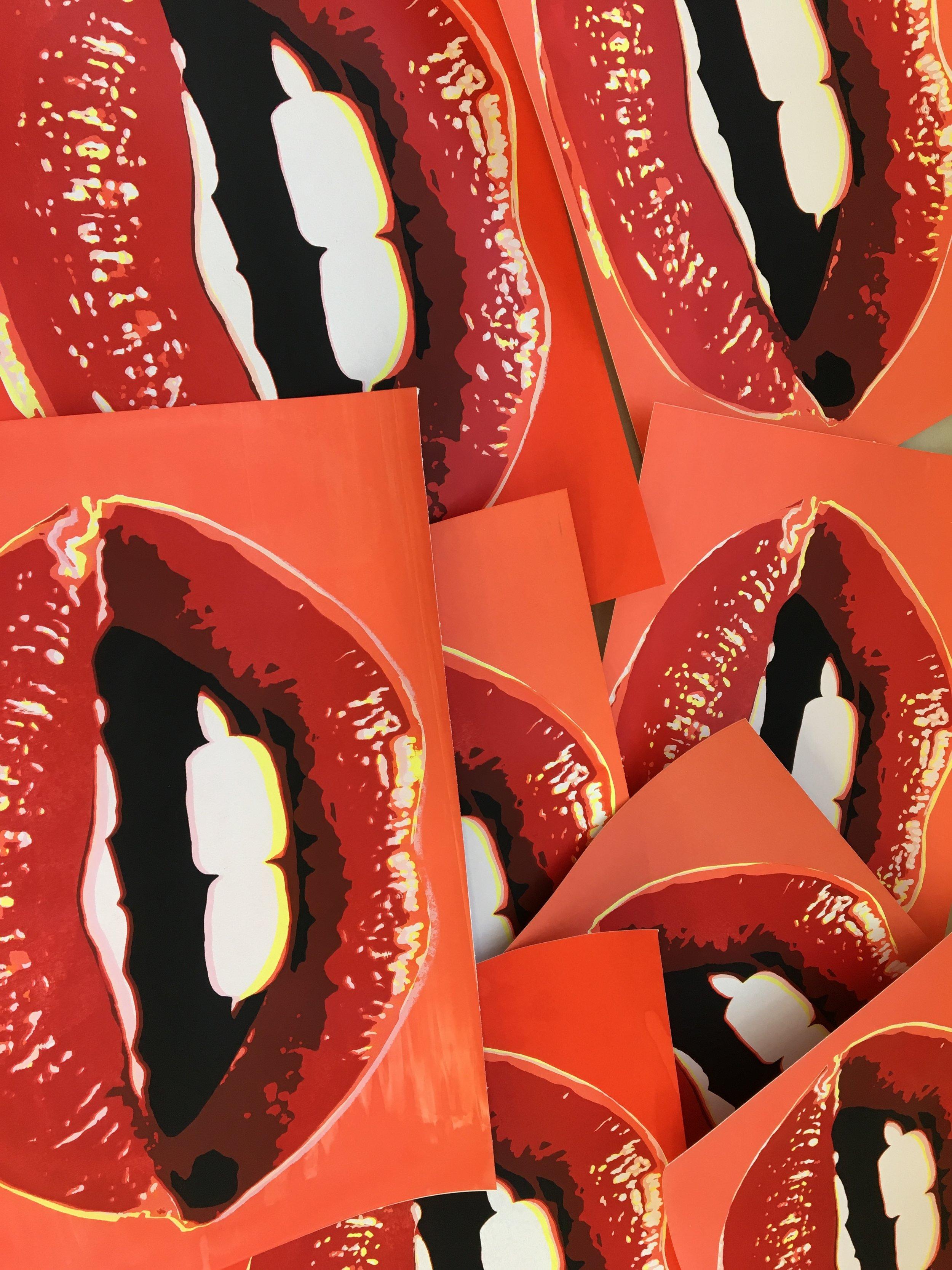 Lip Series, Silkscreen