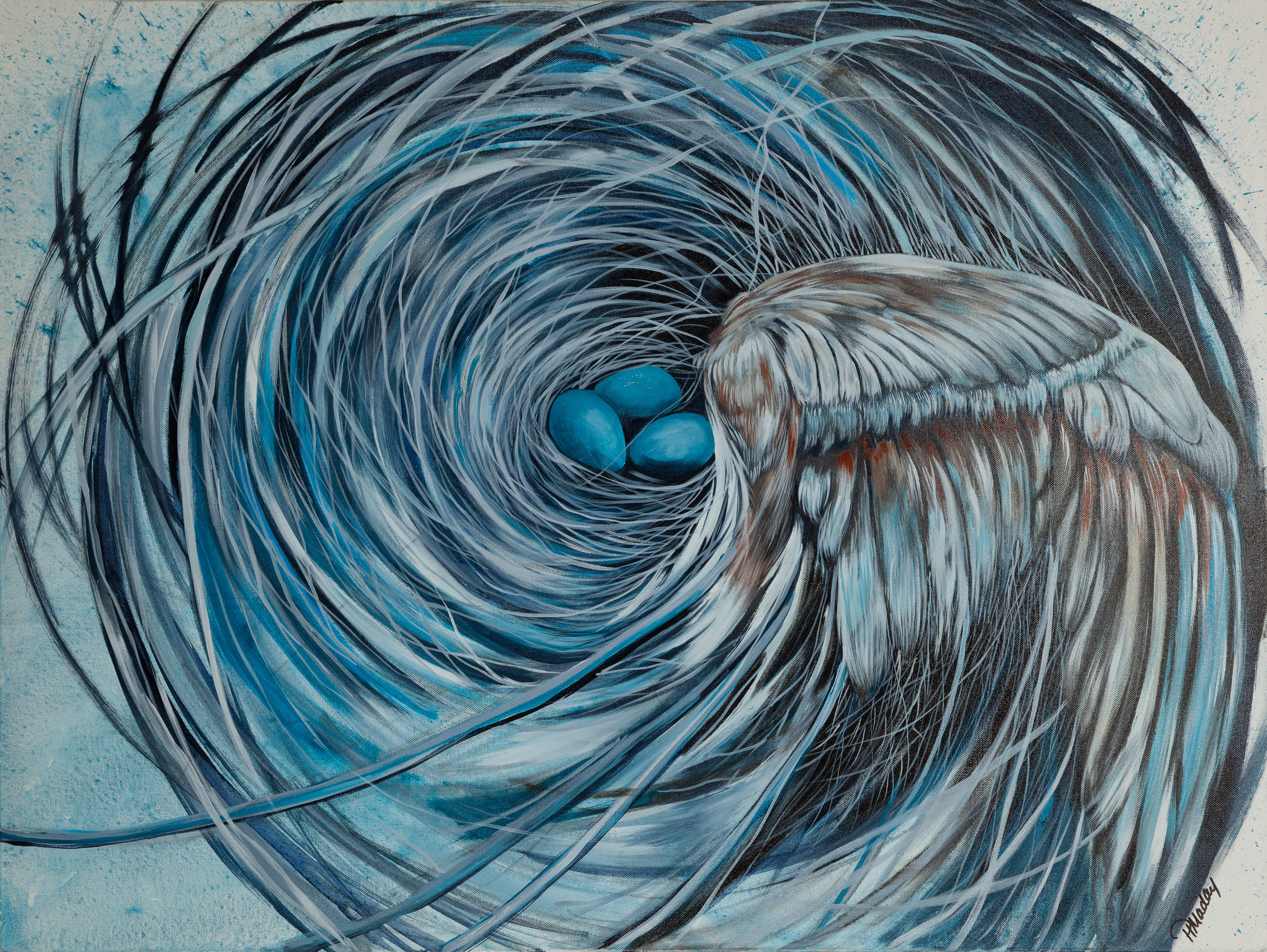 "Broken Wing  30 X 40"" SOLD"